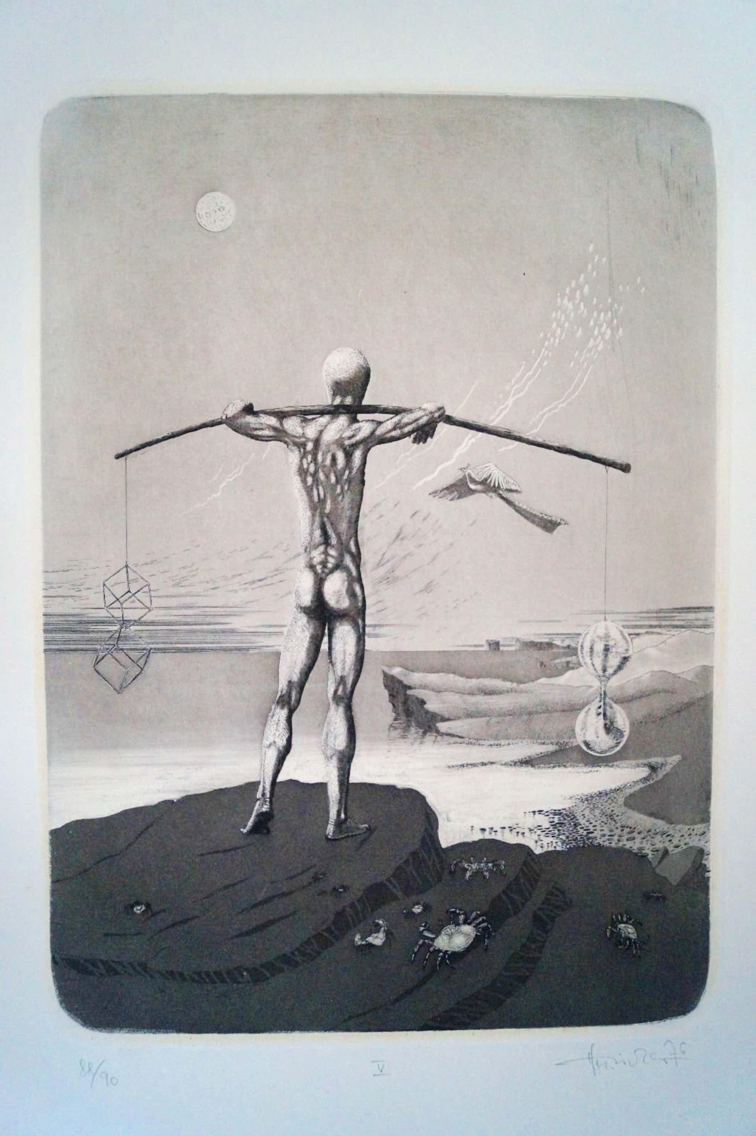 Luitpold Matthaus Richter - 2 tolle Radierungen - Surrealismus kopen? Bied vanaf 99!