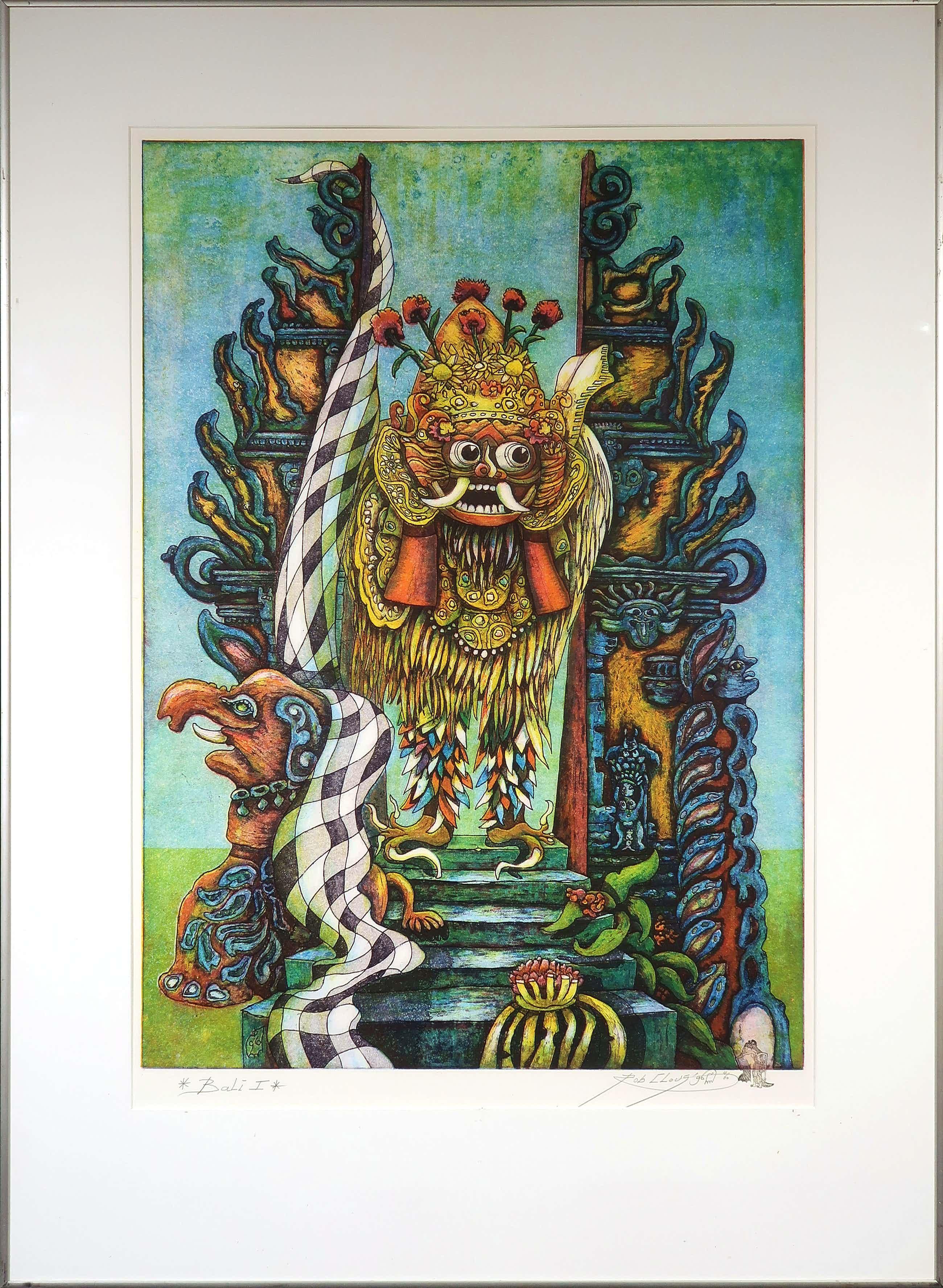 Rob Clous - Kleurenets en aquatint, Bali I - Ingelijst (Groot) kopen? Bied vanaf 35!