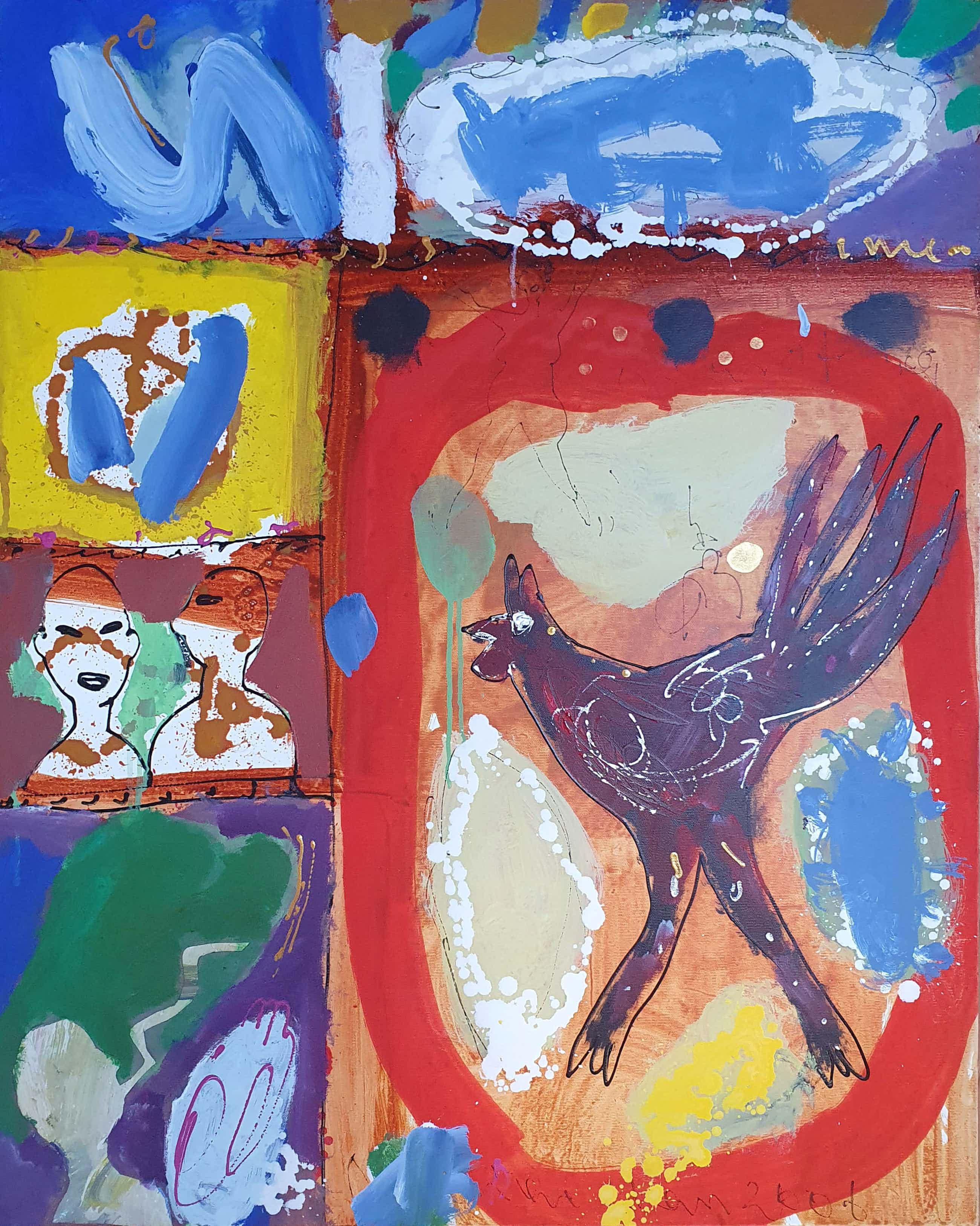 Dominique Chan - Acryl en collage op doek (Groot) kopen? Bied vanaf 295!