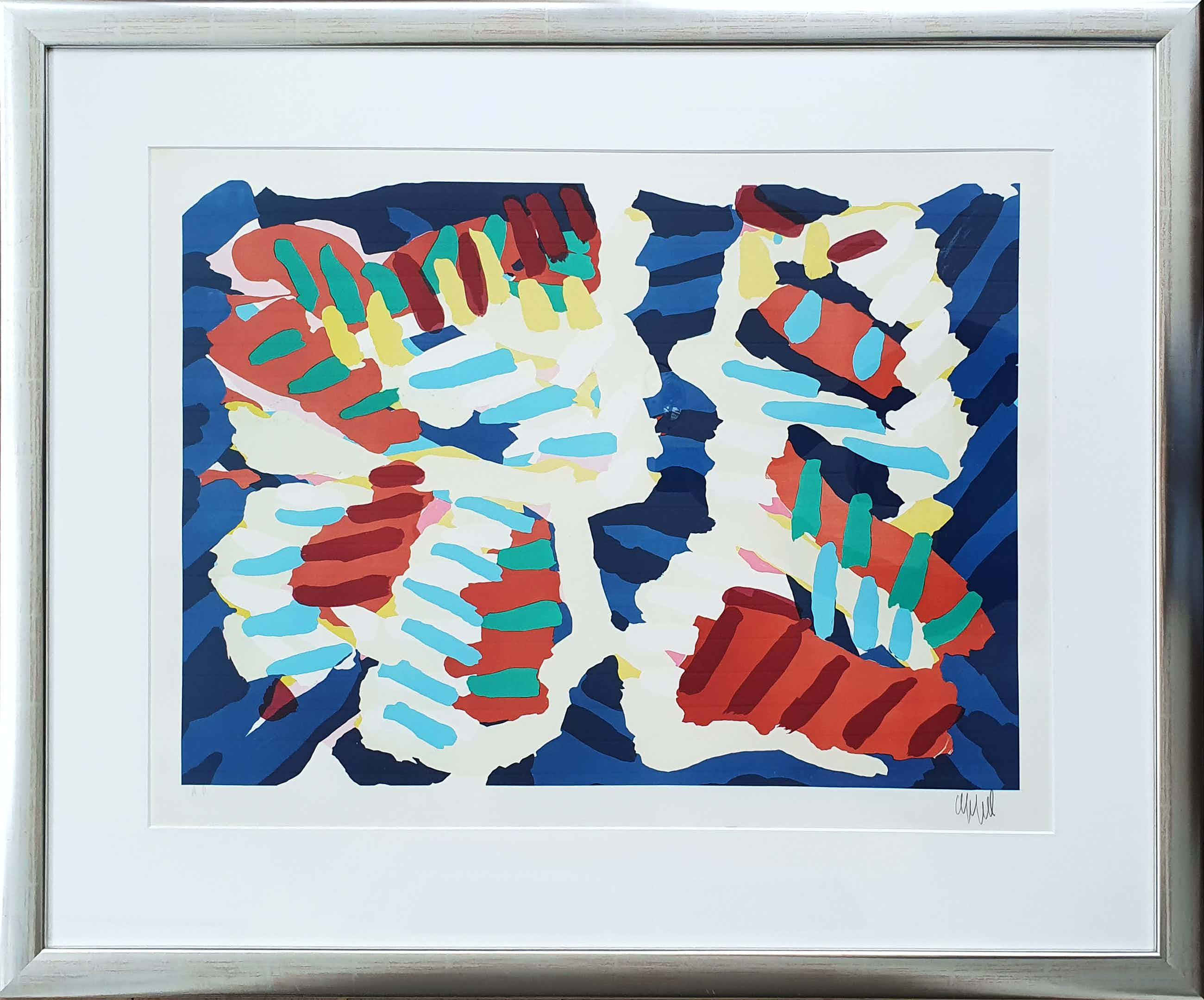 """Karel Appel - """"Splintering Heads"""" Nieuwe lijst (Groot) kopen? Bied vanaf 525!"""