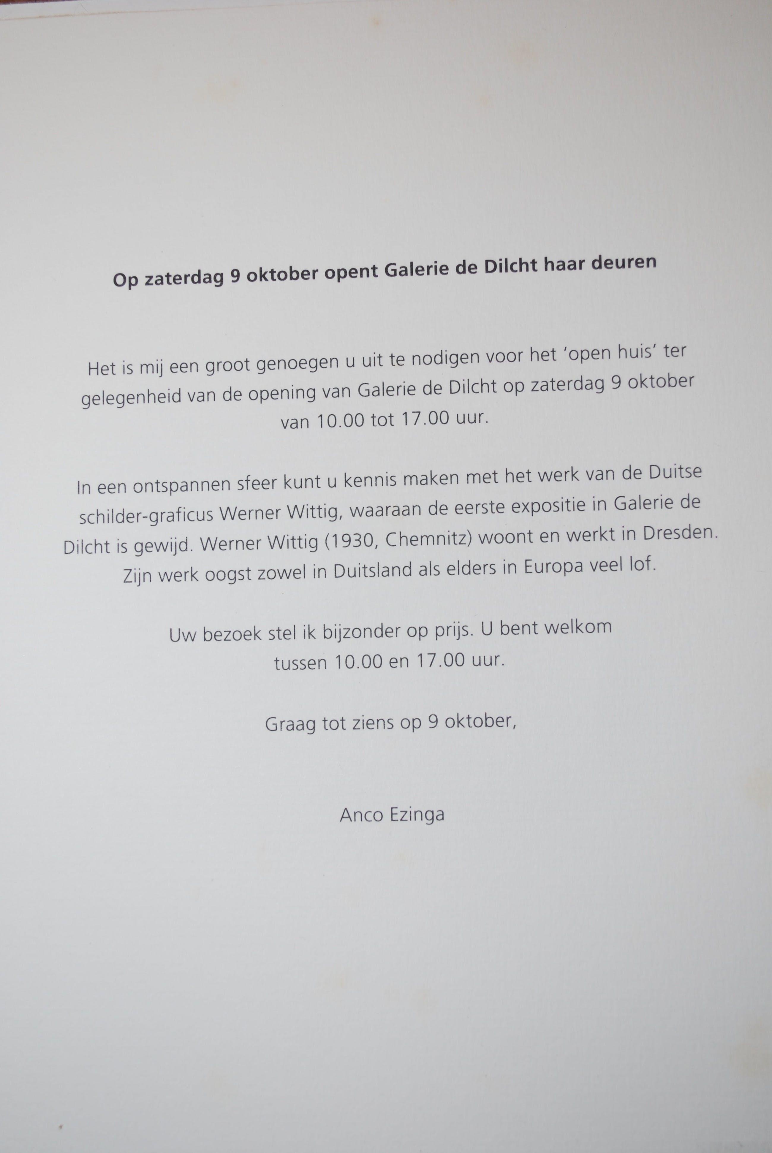 Werner Wittig - Houtsnede landschap kopen? Bied vanaf 30!
