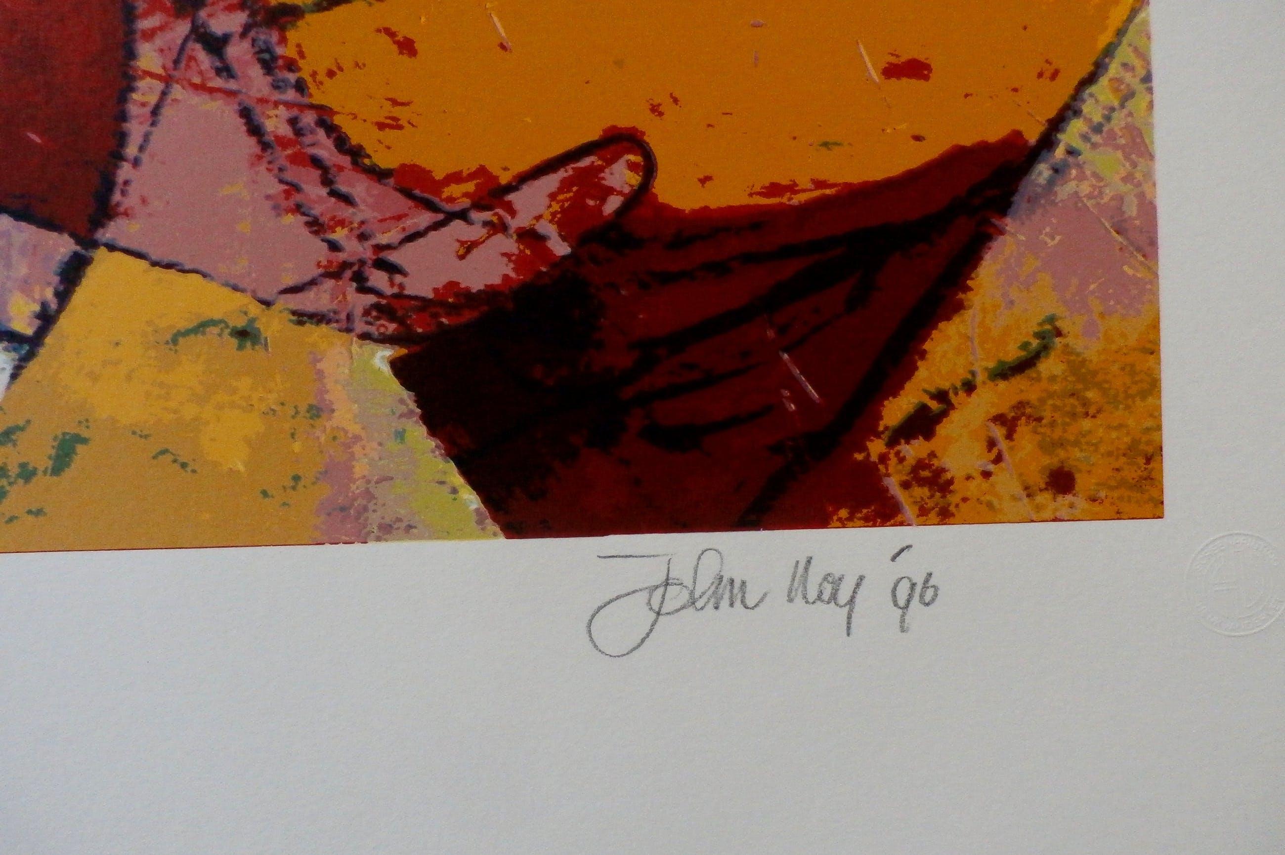 John Noy - Zeefdruk: geometrische compositie kopen? Bied vanaf 50!