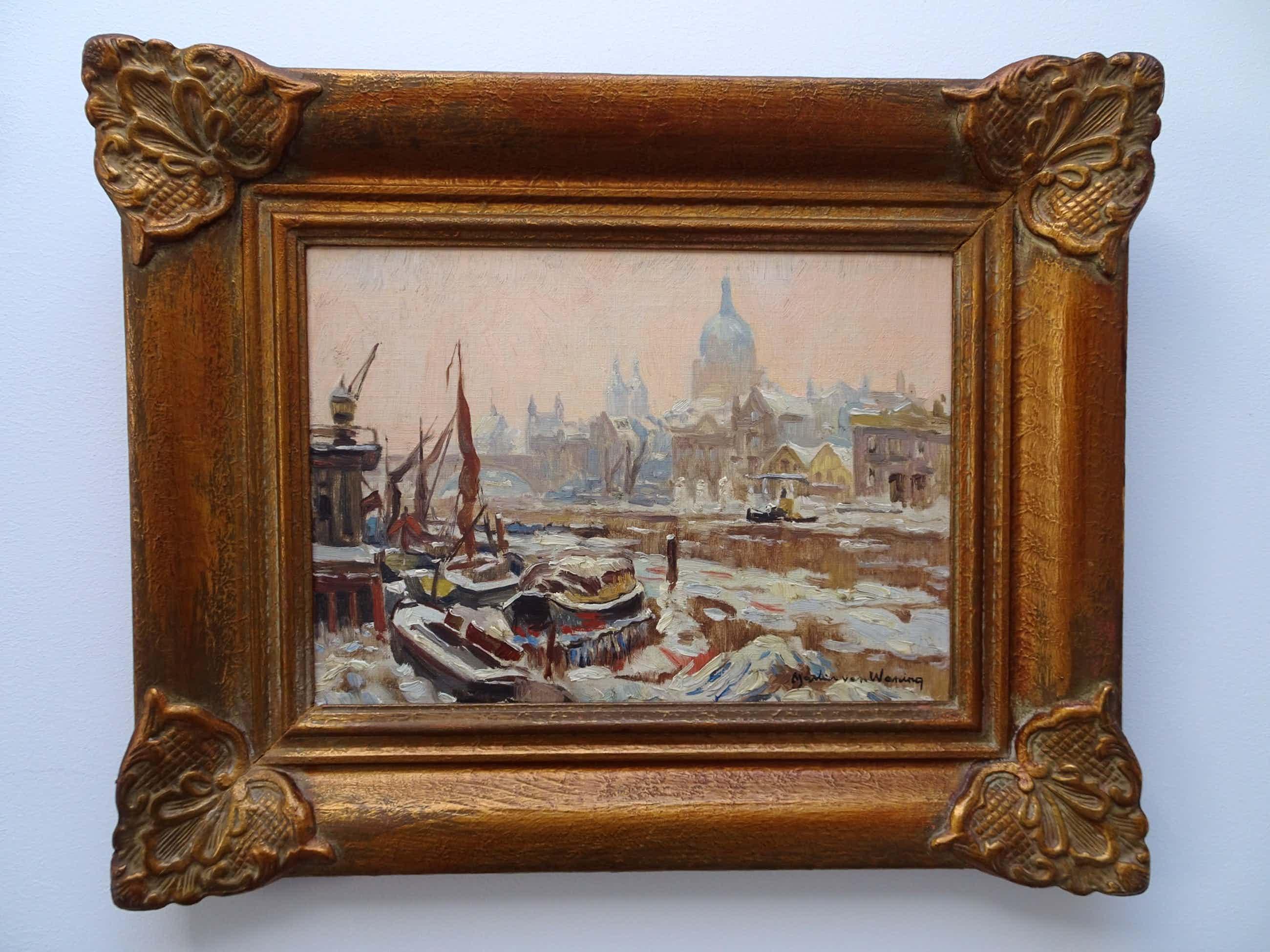 Martin van Waning - De Thames in de winter kopen? Bied vanaf 175!