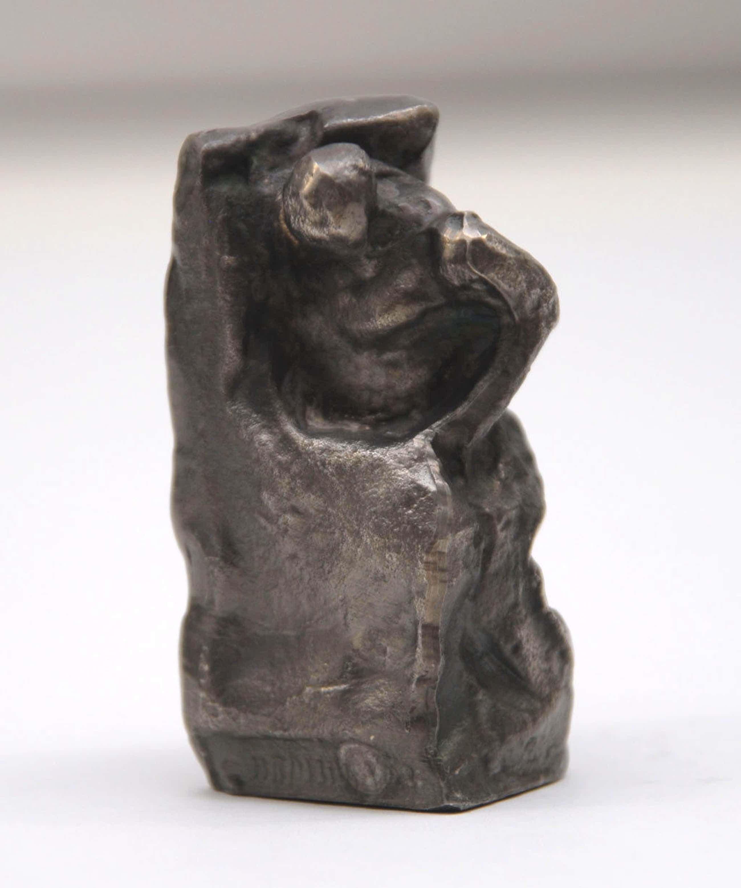 Alfred Hrdlicka - Studie zu Anthropos - Skulptur, Edelzinn versilbert kopen? Bied vanaf 200!