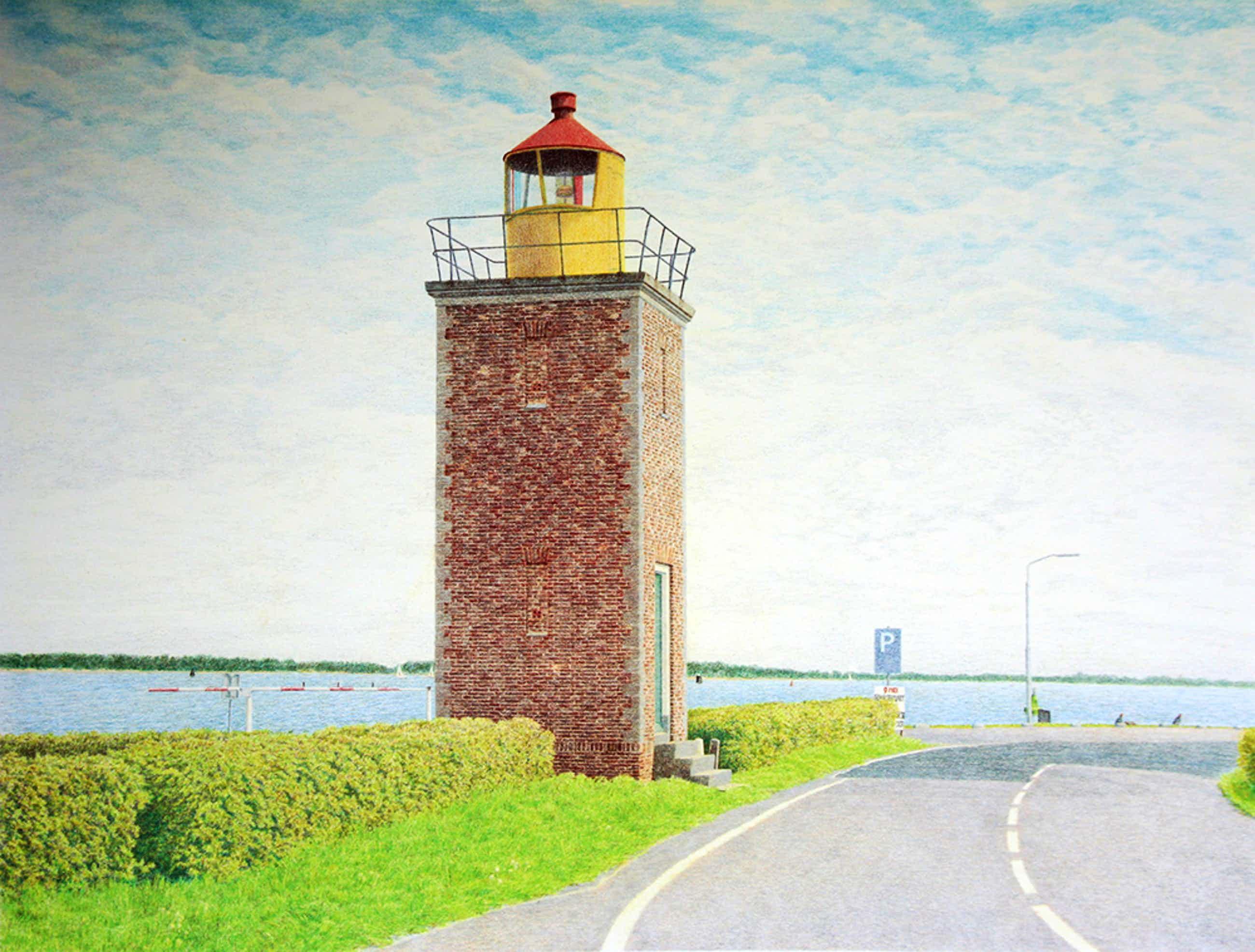Frans Room - vuurtoren Willemstad - zeefdruk - FR0032 kopen? Bied vanaf 25!