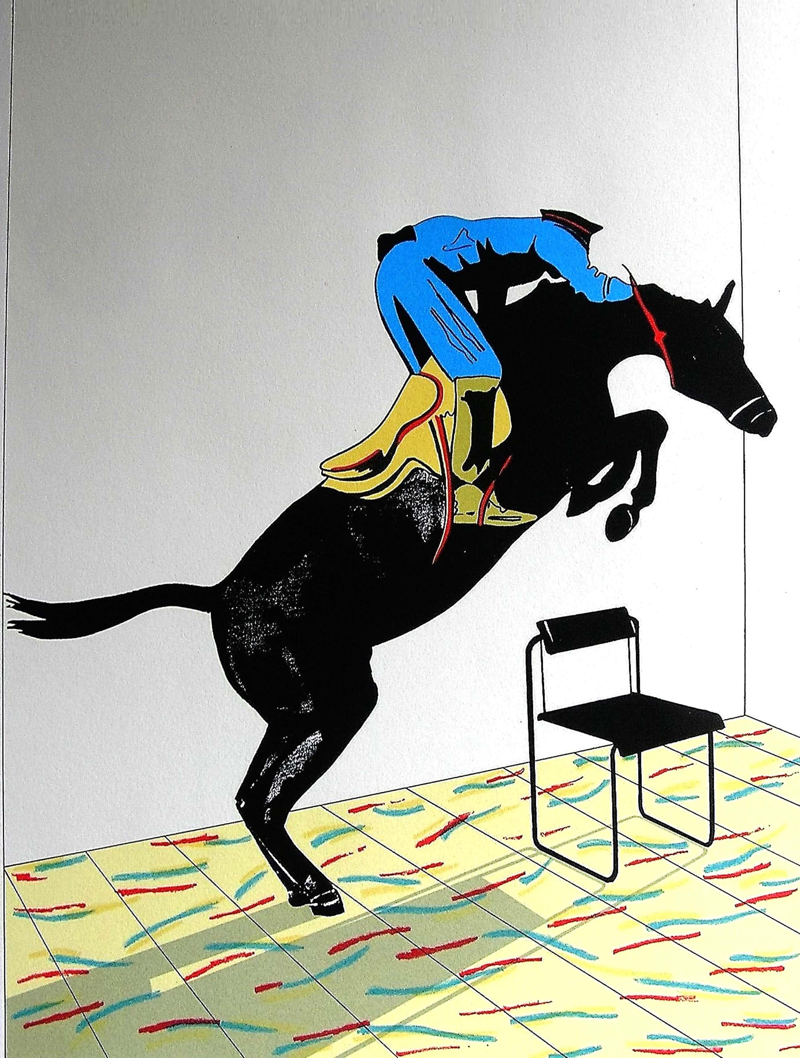 Hans Wap - Zeefdruk 'De Sprong' uit de Grafiekserie 'Het Dagelijks Leven' 1987 kopen? Bied vanaf 50!