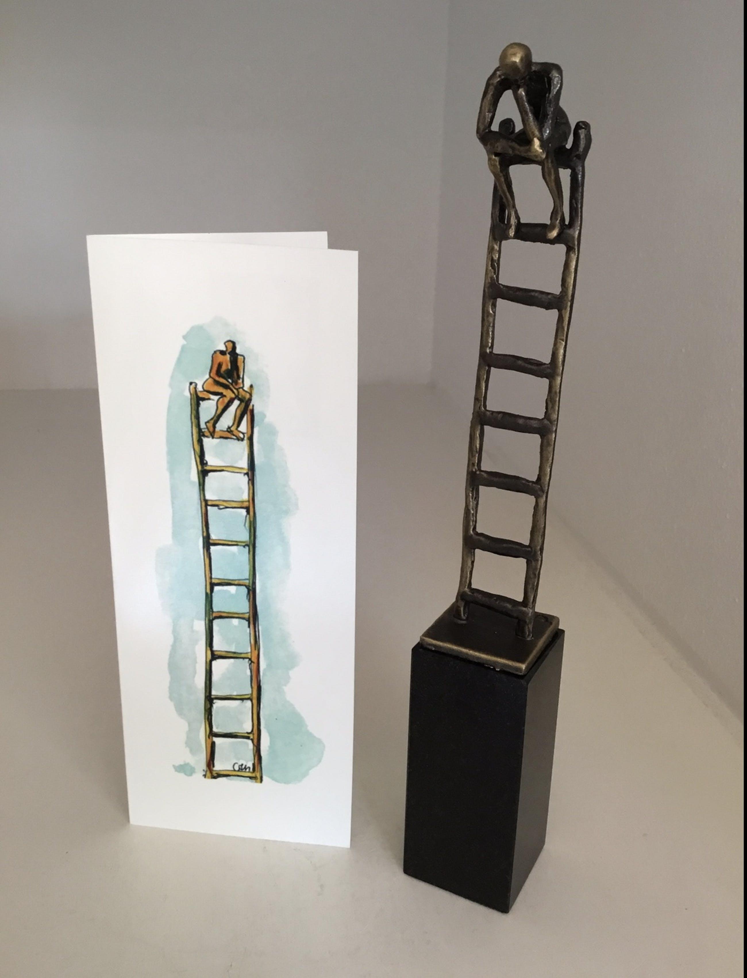 """Corry Ammerlaan - Sculptuur """" De denkende mens """" kopen? Bied vanaf 75!"""