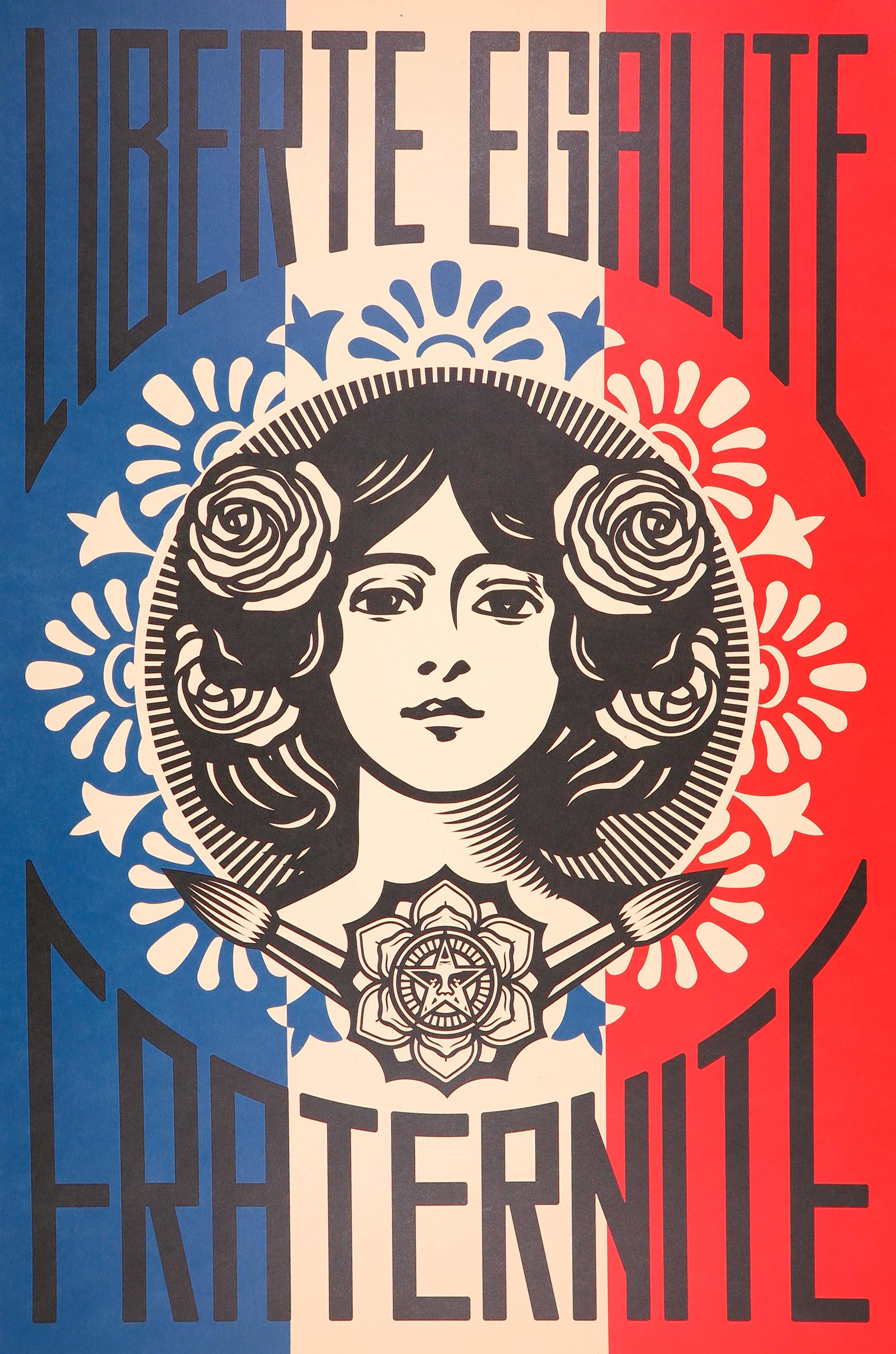 Shepard Fairey - OBEY - Liberté Egalité Fraternité kopen? Bied vanaf 90!