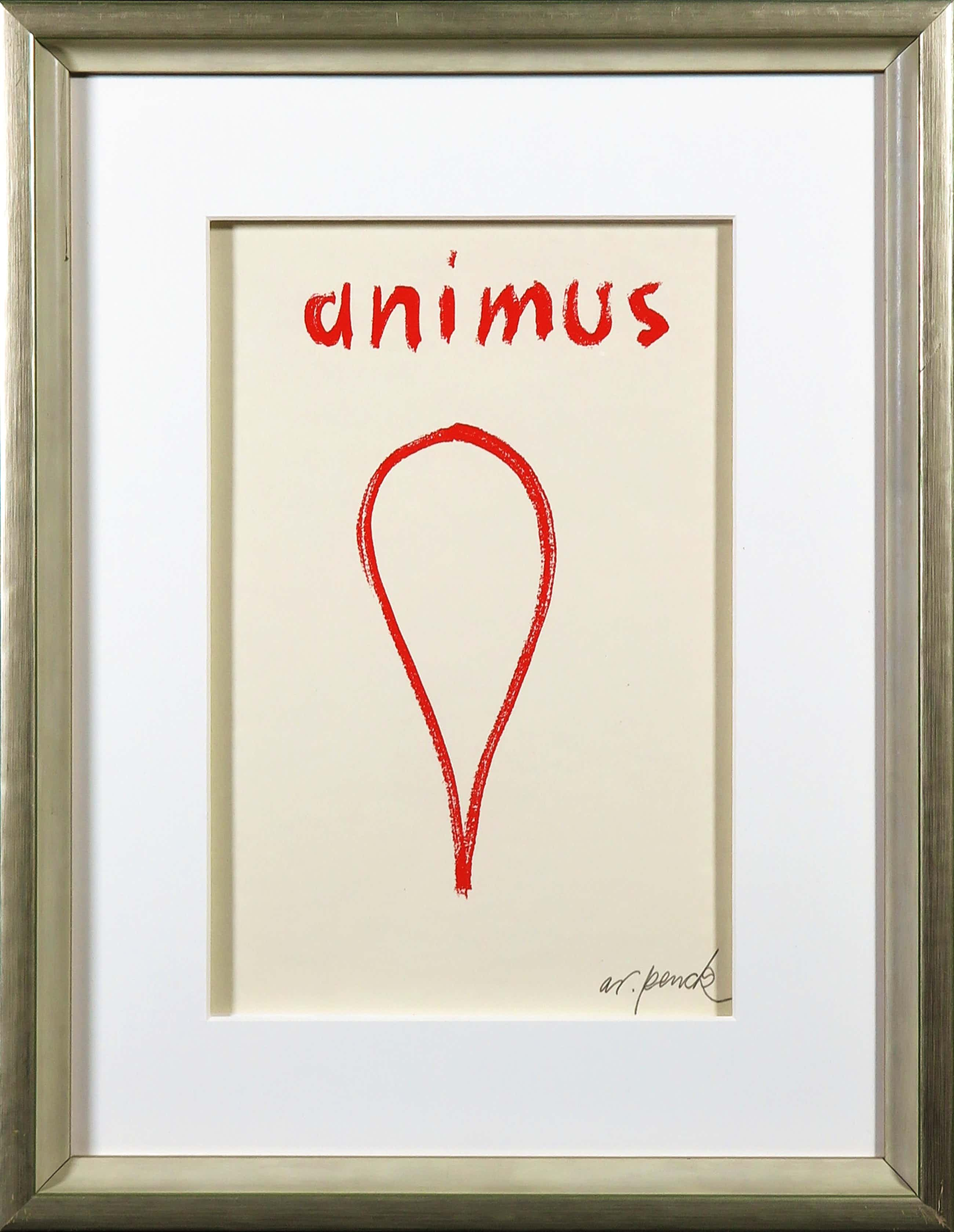 A.R. Penck - Zeldzame, handgesigneerde litho, Animus kopen? Bied vanaf 150!