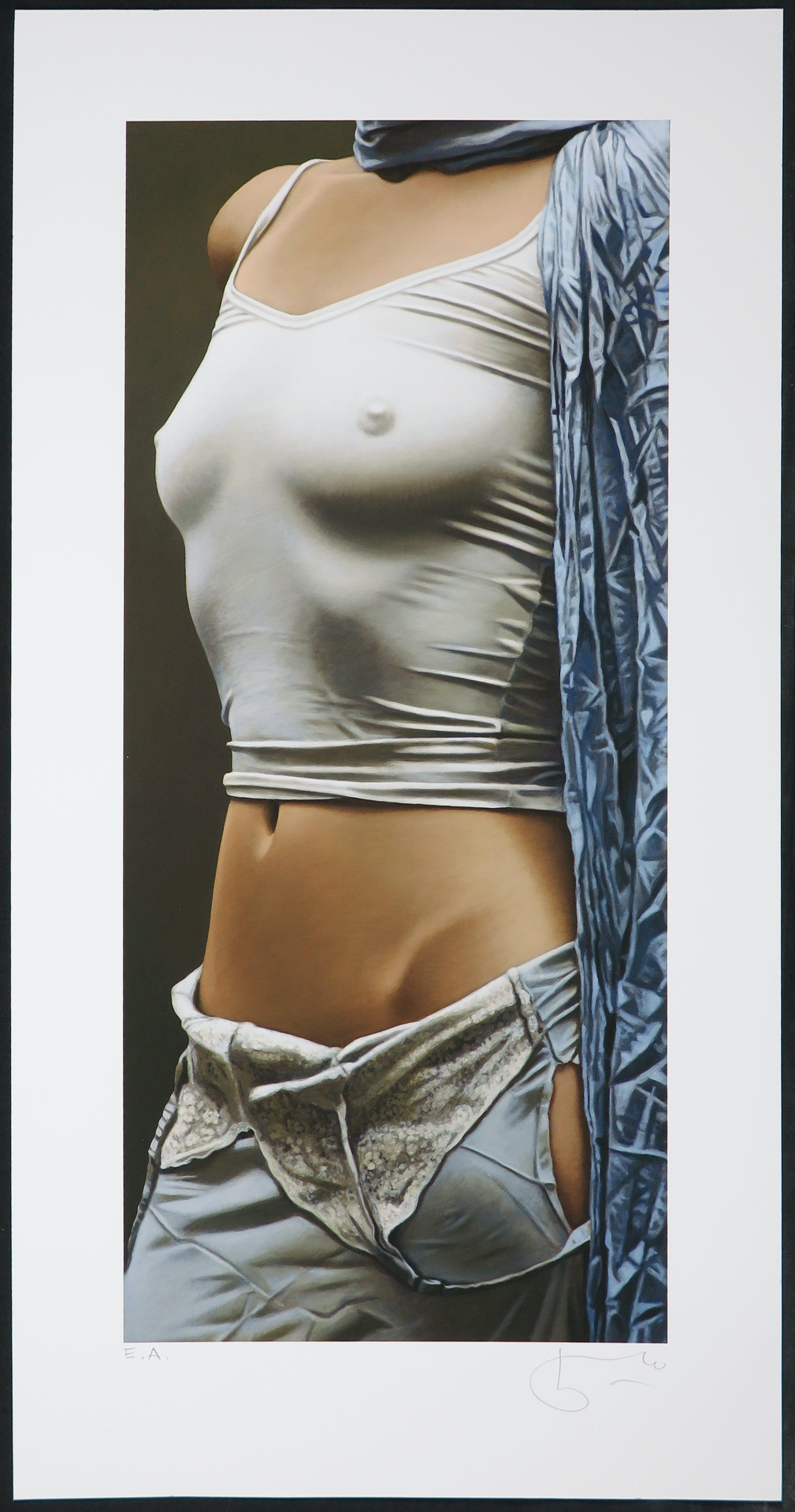 Willi Kissmer - Giclée, Lady in white top kopen? Bied vanaf 1!