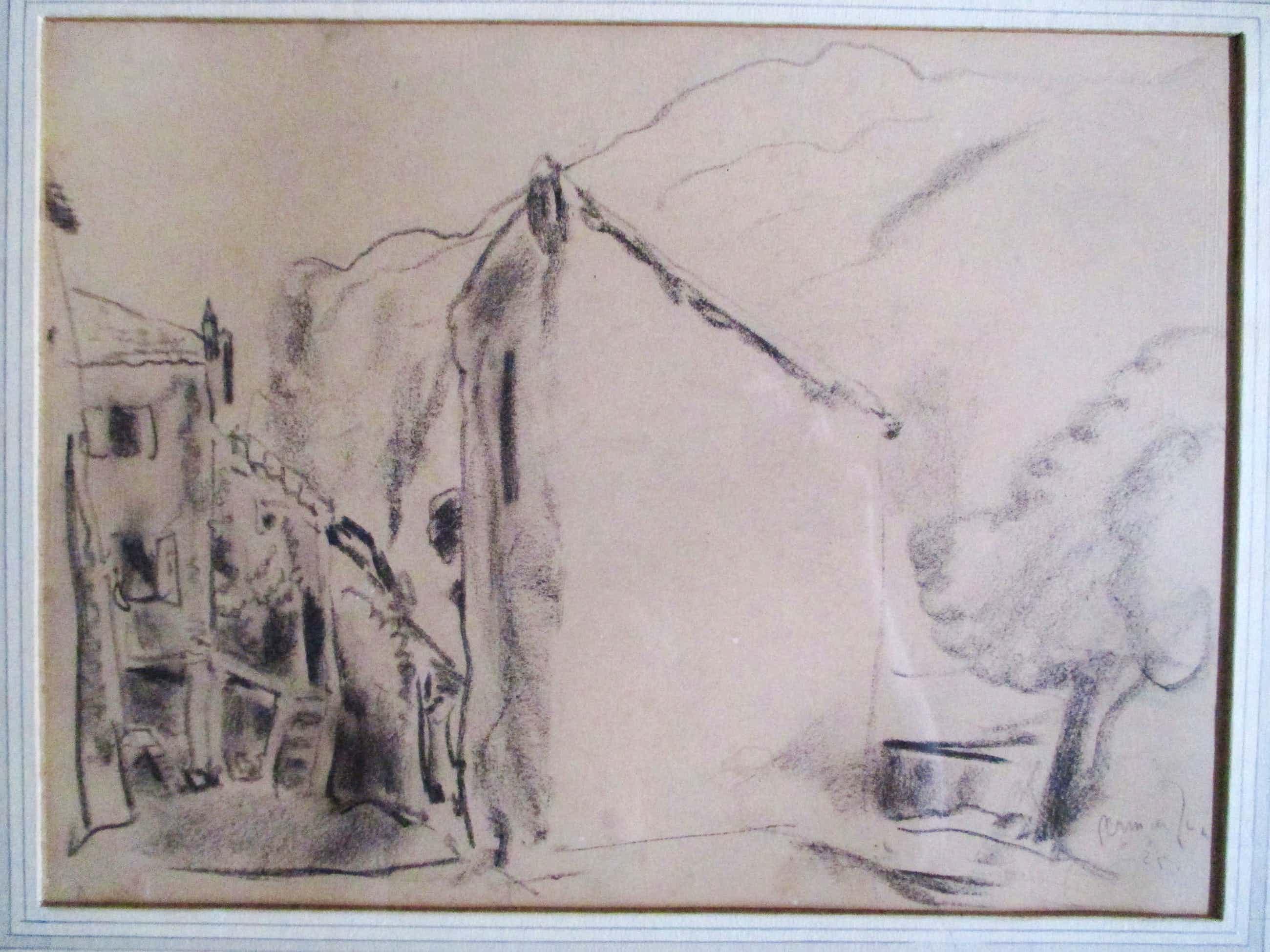 Germ de Jong - Ingelijste tekening 1925 kopen? Bied vanaf 60!