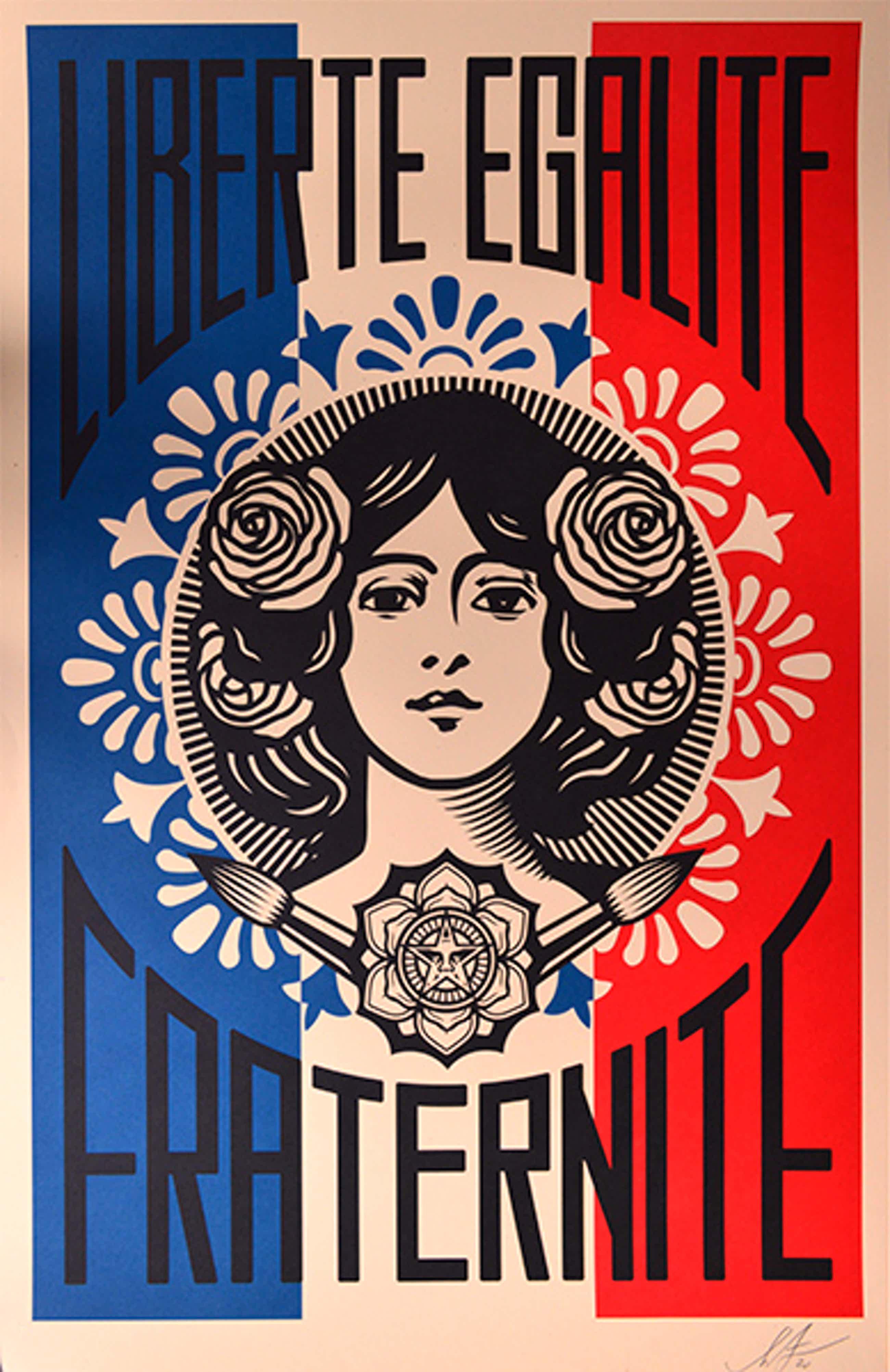 Shepard Fairey - Liberté Egalité Fraternité kopen? Bied vanaf 1!