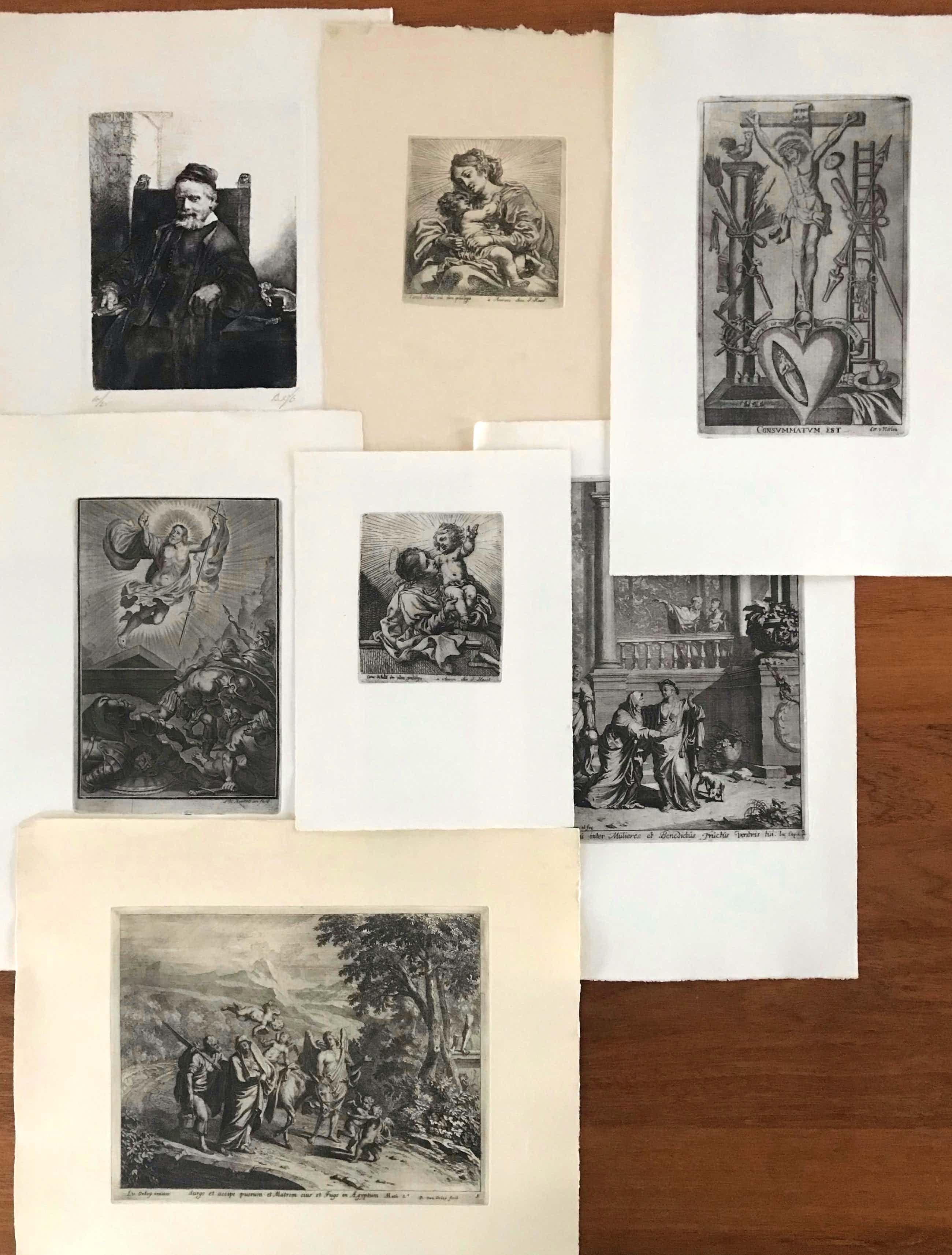 Rembrandt van Rijn - Verschillende kunstenaars - Lot van 7 werken - begin vorige eeuw kopen? Bied vanaf 25!