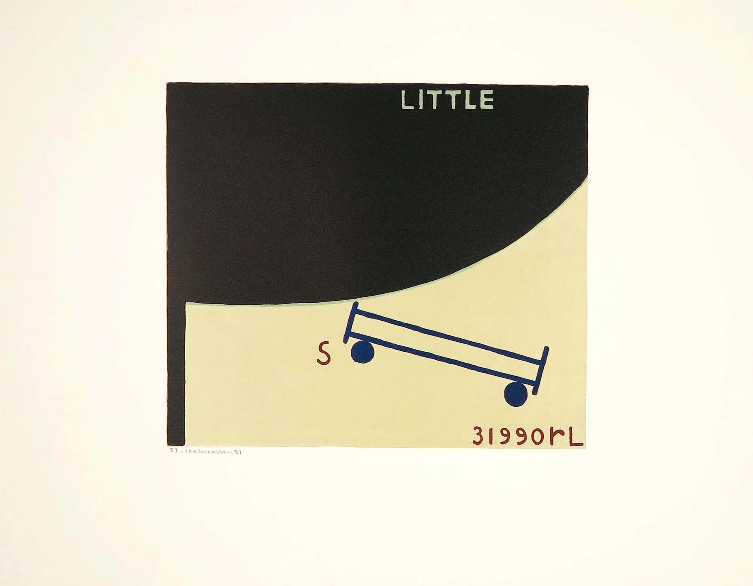 Reinier Lucassen - zeefdruk 'Little' - 1991 - oplage 100. kopen? Bied vanaf 170!