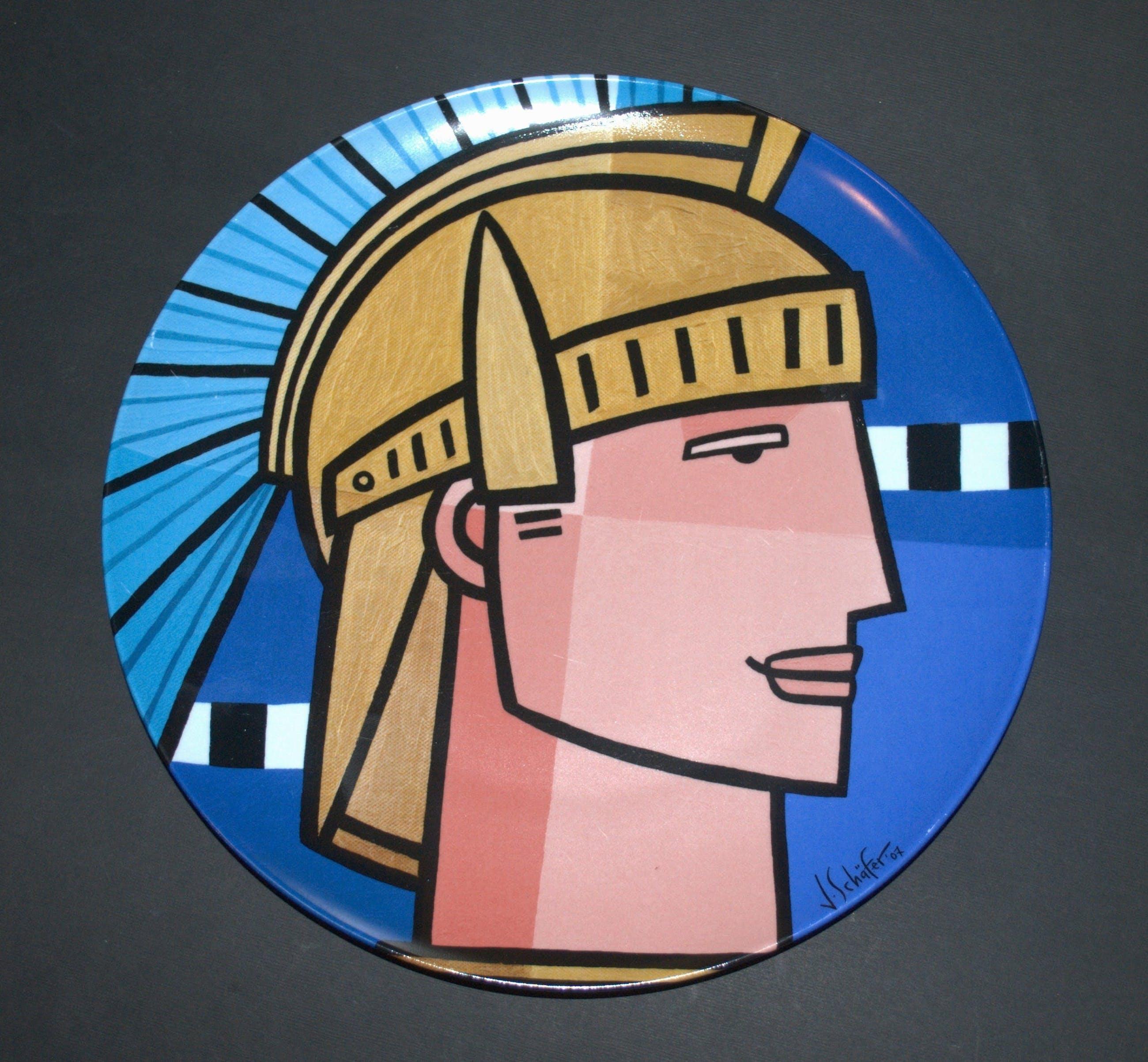 Jan Kamphuis - keramische schaal - extra: bord Jacqueline Schäfer kopen? Bied vanaf 20!