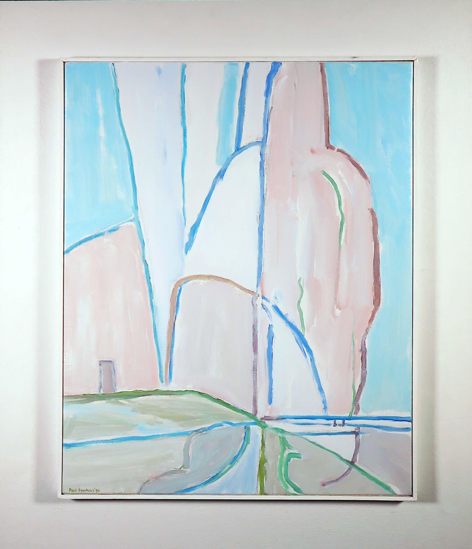 Paul Overhaus - Acryl op doek, Roze wolken - Ingelijst (Groot) kopen? Bied vanaf 100!
