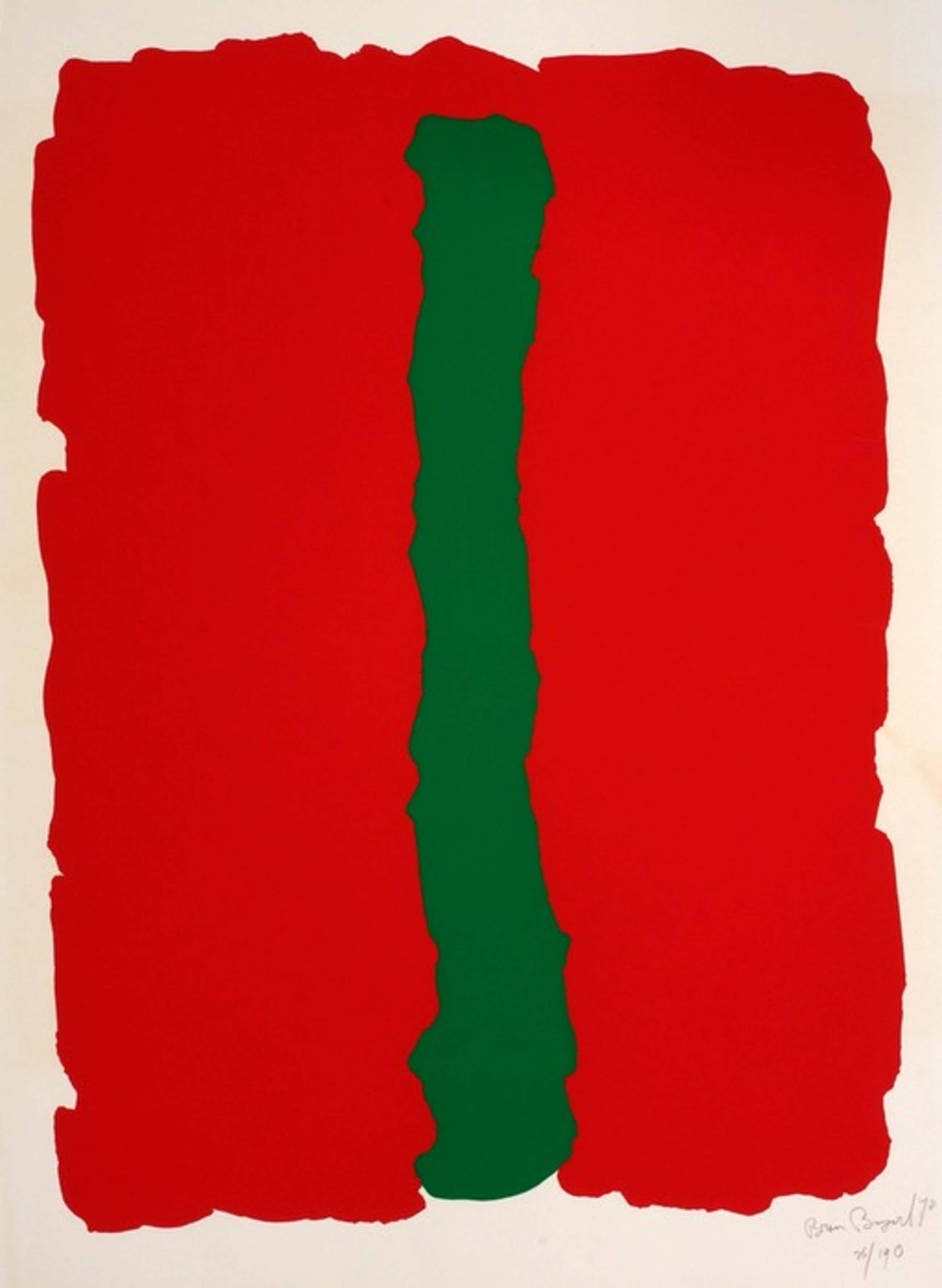 Bram Bogart - Rood groen - kleurenlitho, handgesigneerd, 1978 kopen? Bied vanaf 450!