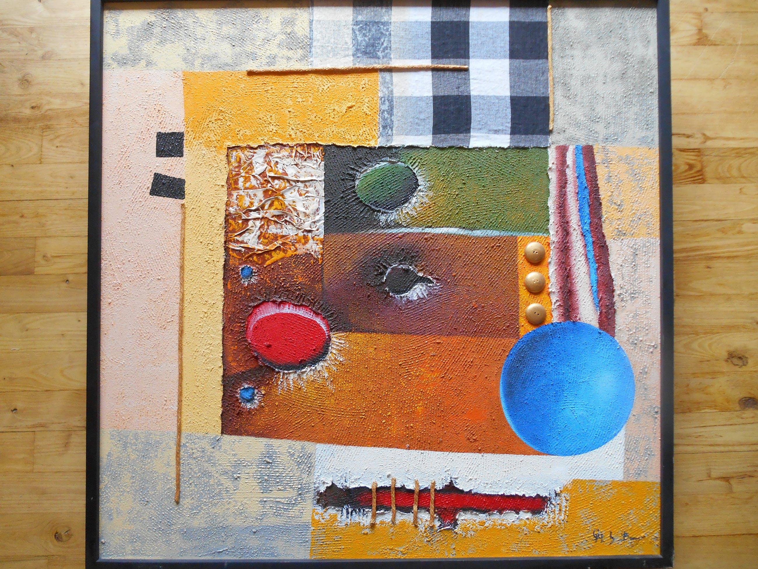 Harry Boom - abstracte compositie kopen? Bied vanaf 70!