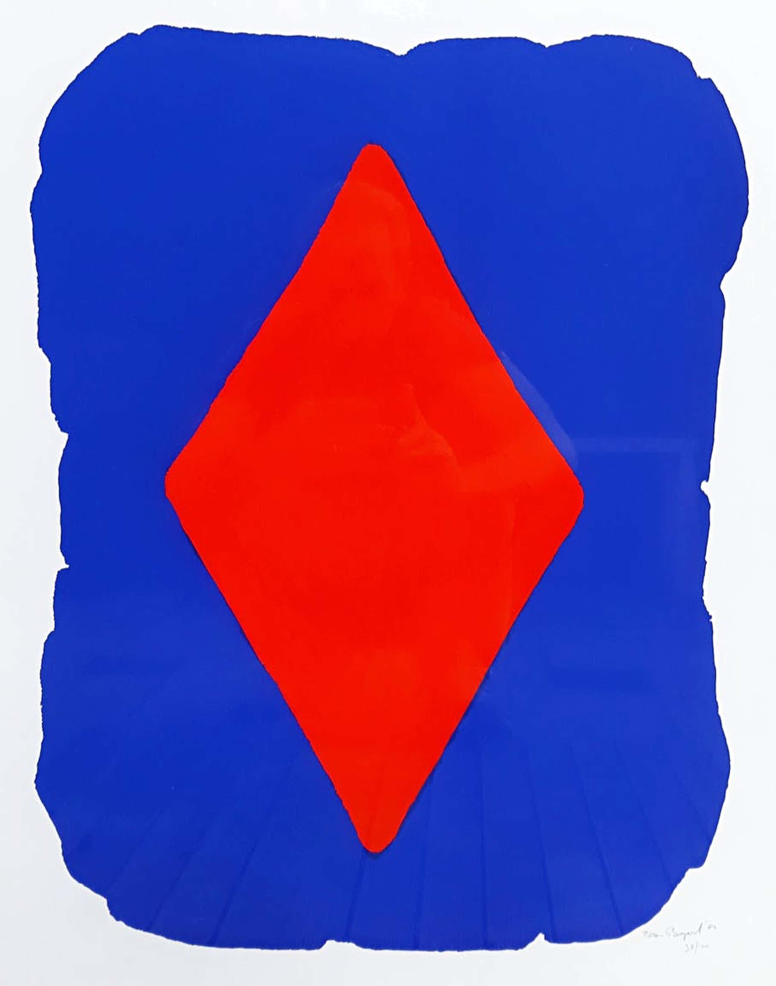 Bram Bogart - Geometrisch abstracte compositie, zeefdruk (prachtig ingelijst, groot) kopen? Bied vanaf 370!