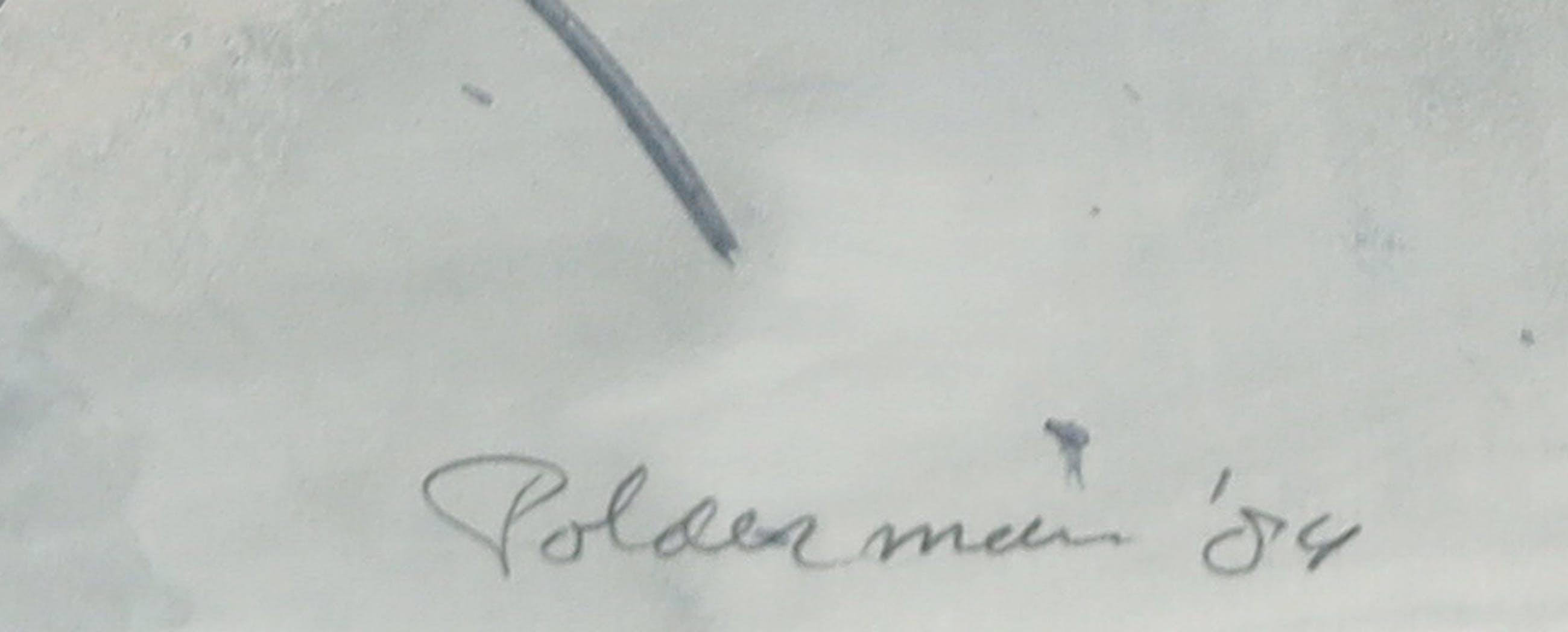 Peter Polderman - Aquarel, Twee violisten - Ingelijst kopen? Bied vanaf 35!