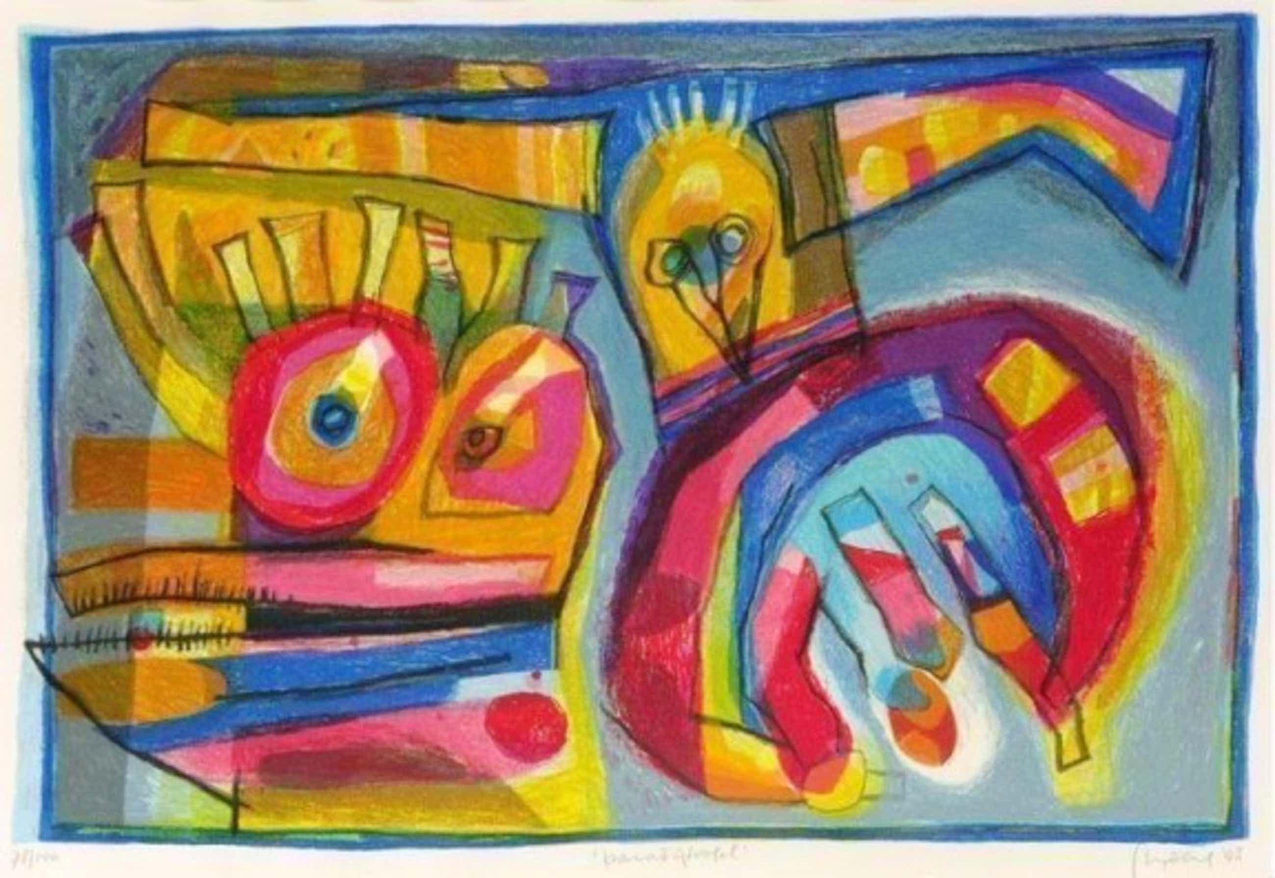 Geert Vrijdag - Kleurenzeefdruk PARADIJS VOGEL ---GROOT!!! kopen? Bied vanaf 175!