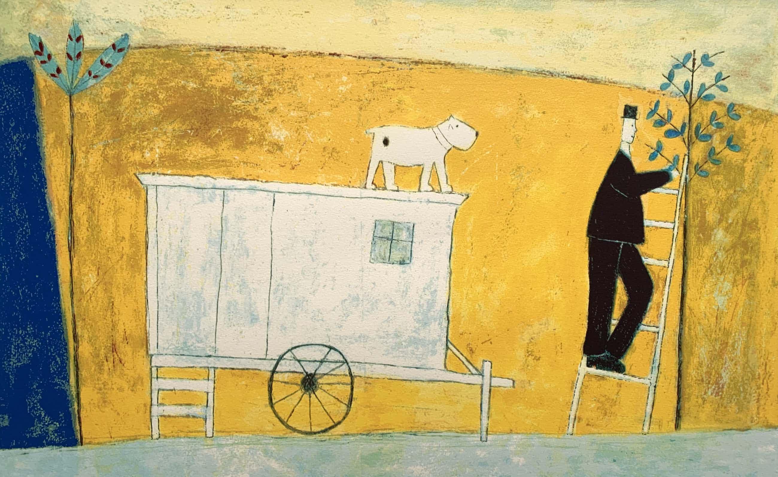 Annora Spence - kleurenzeefdruk | 'The white caravan' kopen? Bied vanaf 140!