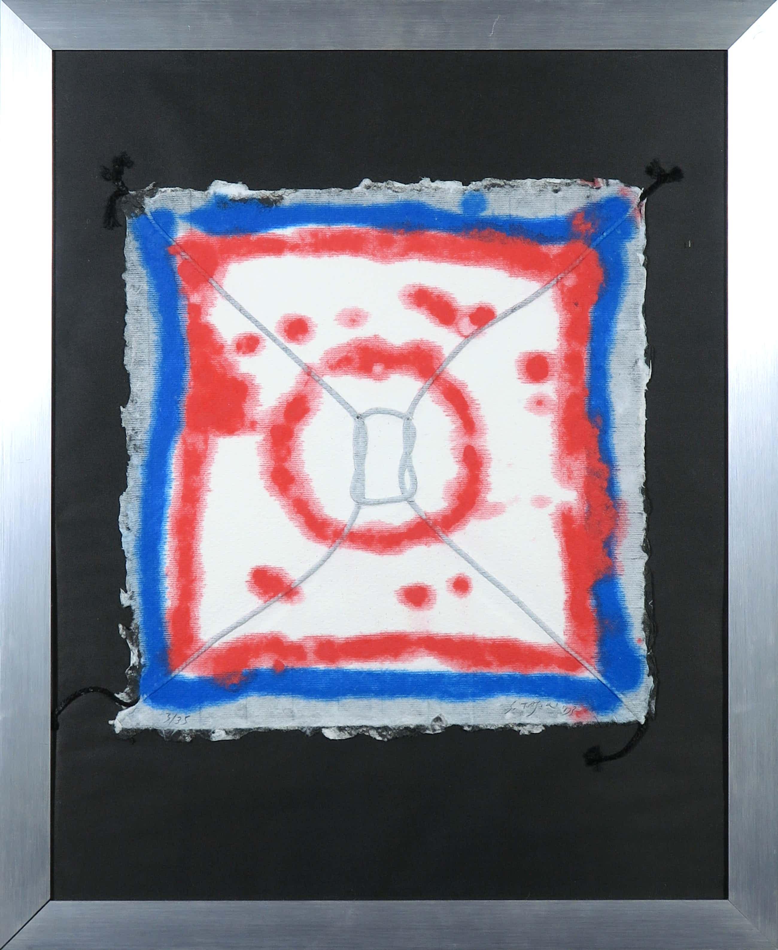 Shinkichi Tajiri - Aquagravure op geschept papier, Knoop - Ingelijst kopen? Bied vanaf 280!