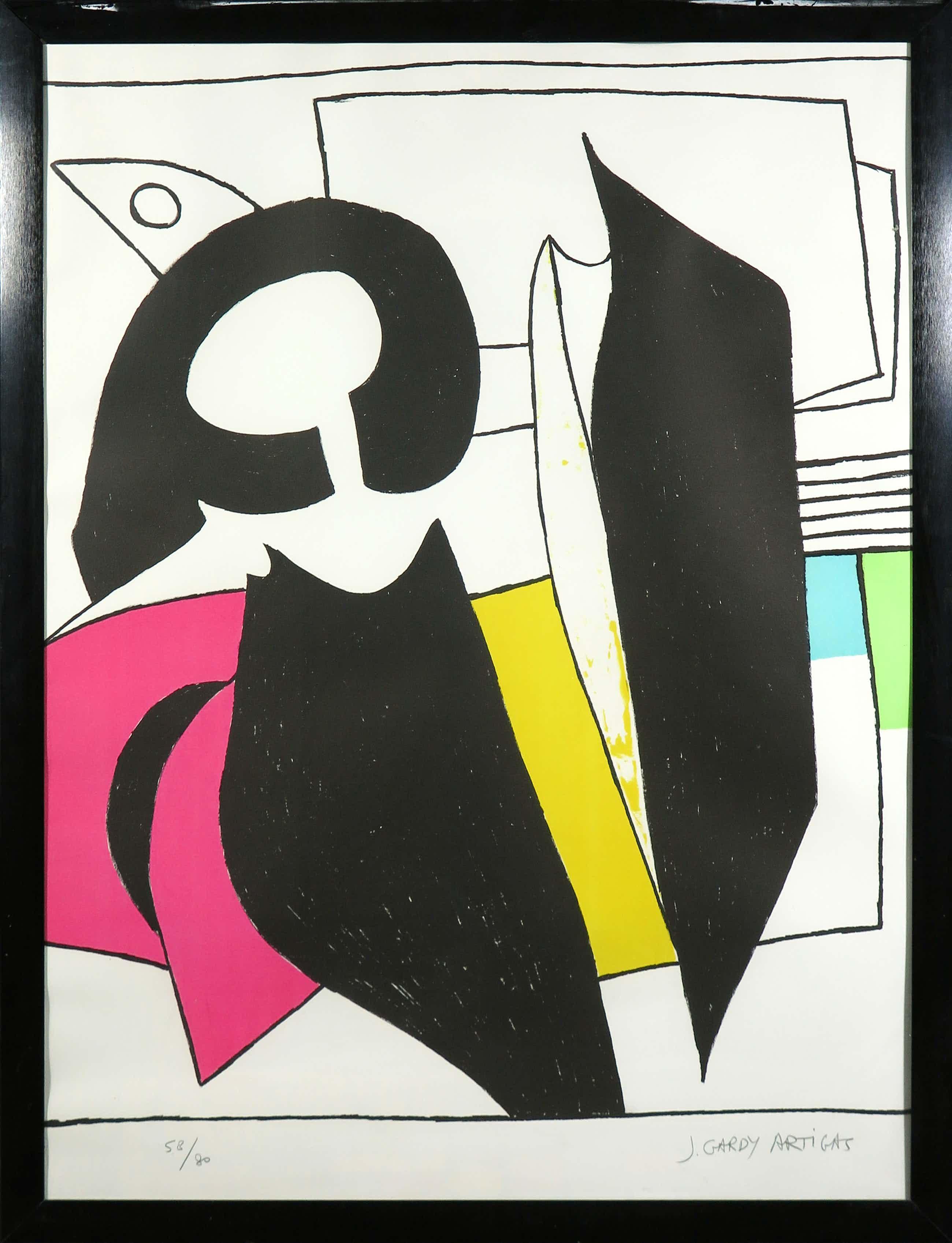 Joanet Gardy Artigas - Litho, Z.T. Abstracte compositie - Ingelijst kopen? Bied vanaf 70!