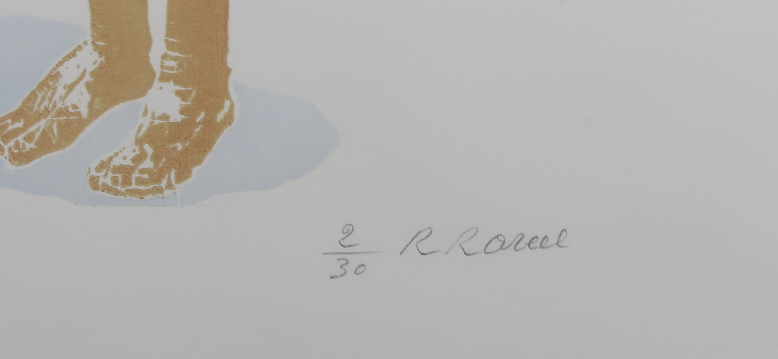 Roger Raveel - Houtsnede, Naakt - Ingelijst kopen? Bied vanaf 400!