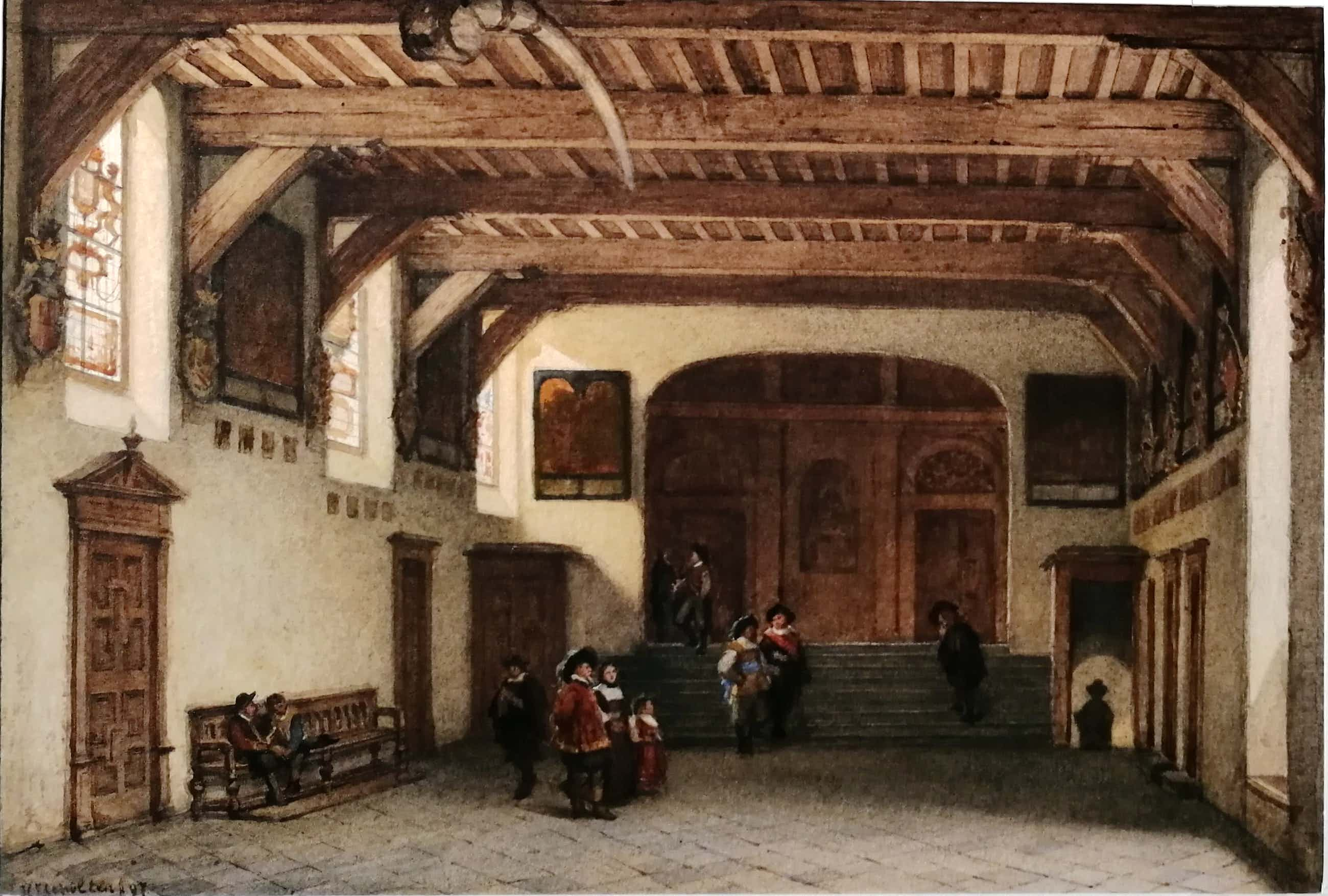 Hendrik Jacobus Scholten - Gravenzaal Stadhuis Haarlem kopen? Bied vanaf 600!
