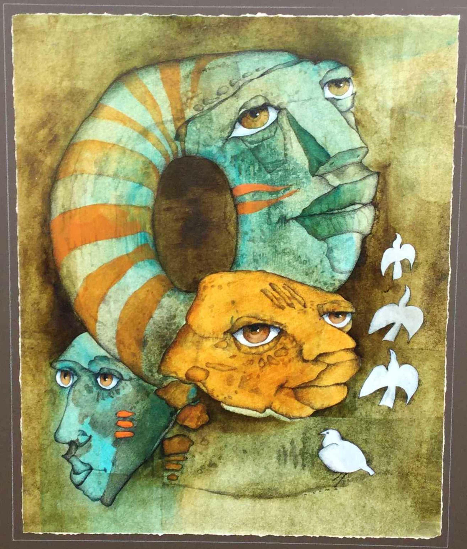 Machiel Hopman - C2878-1 Nzama, surrealistische figuren kopen? Bied vanaf 144!