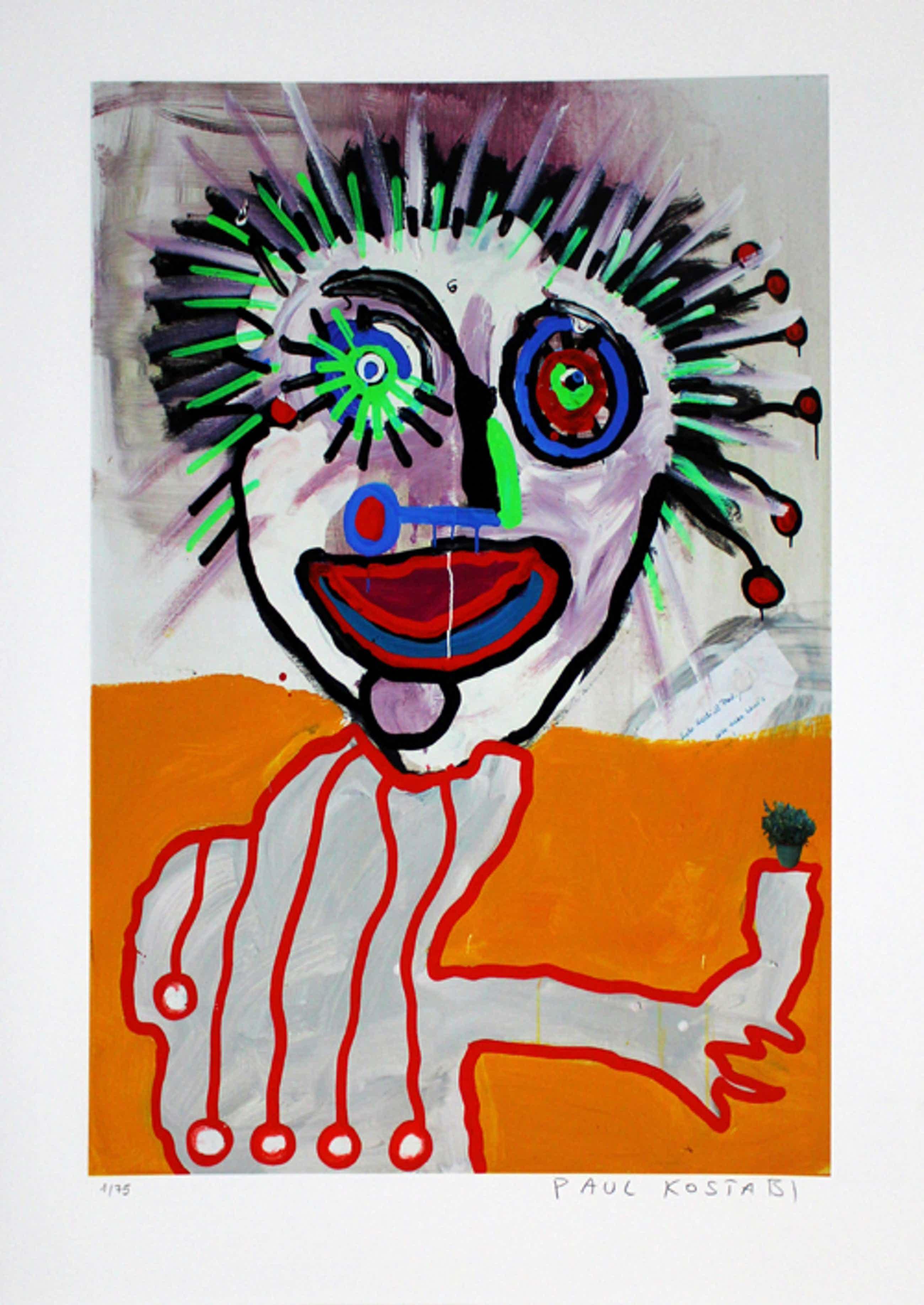 Paul Indrek Kostabi - Kleurengiclee ON THE WAY TO GRACE Handgesigneerd. kopen? Bied vanaf 55!