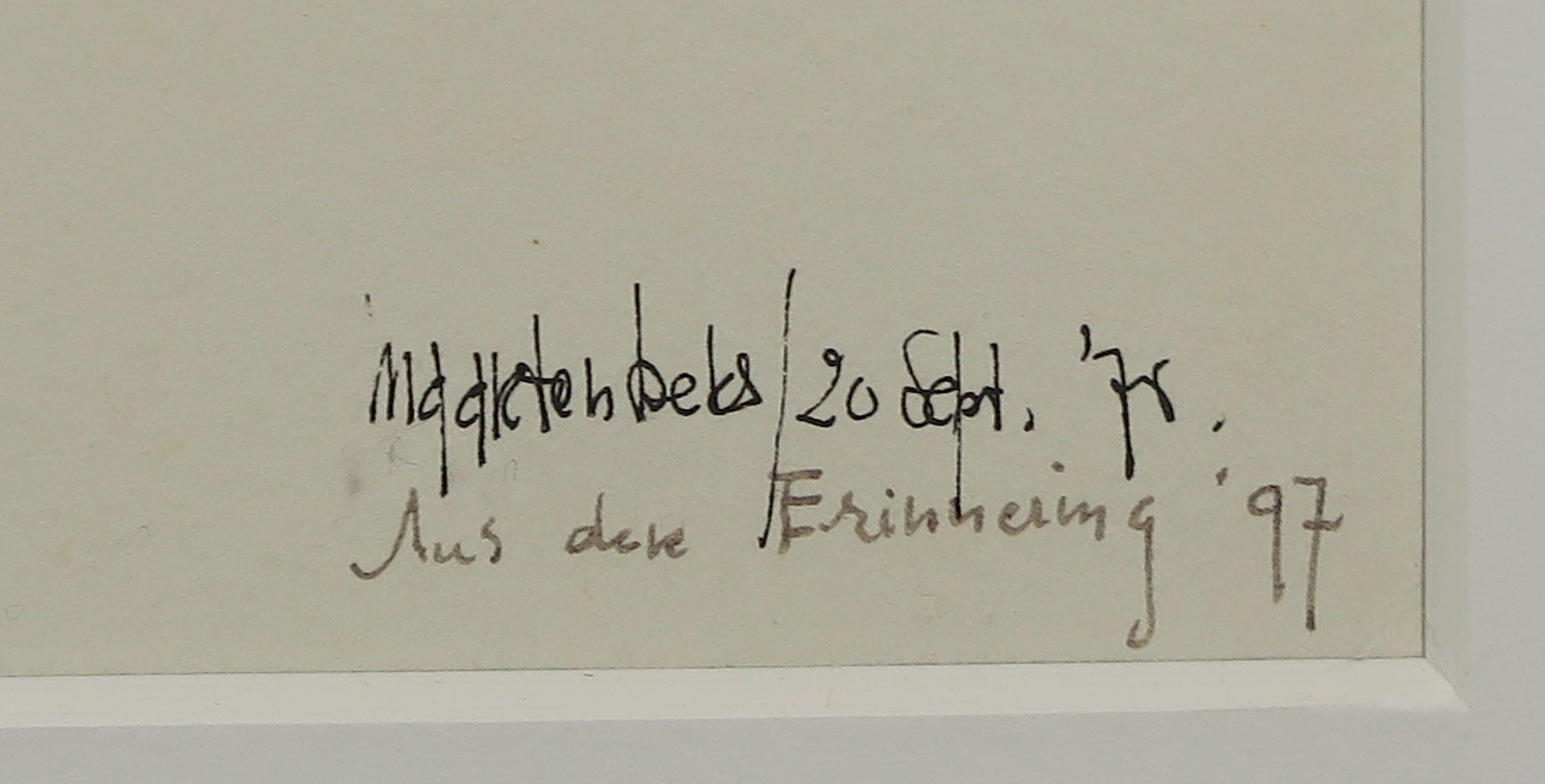 Maarten Beks - Pentekening, La Provincia di Grosseto / Aus der Errinering - Ingelijst kopen? Bied vanaf 1!