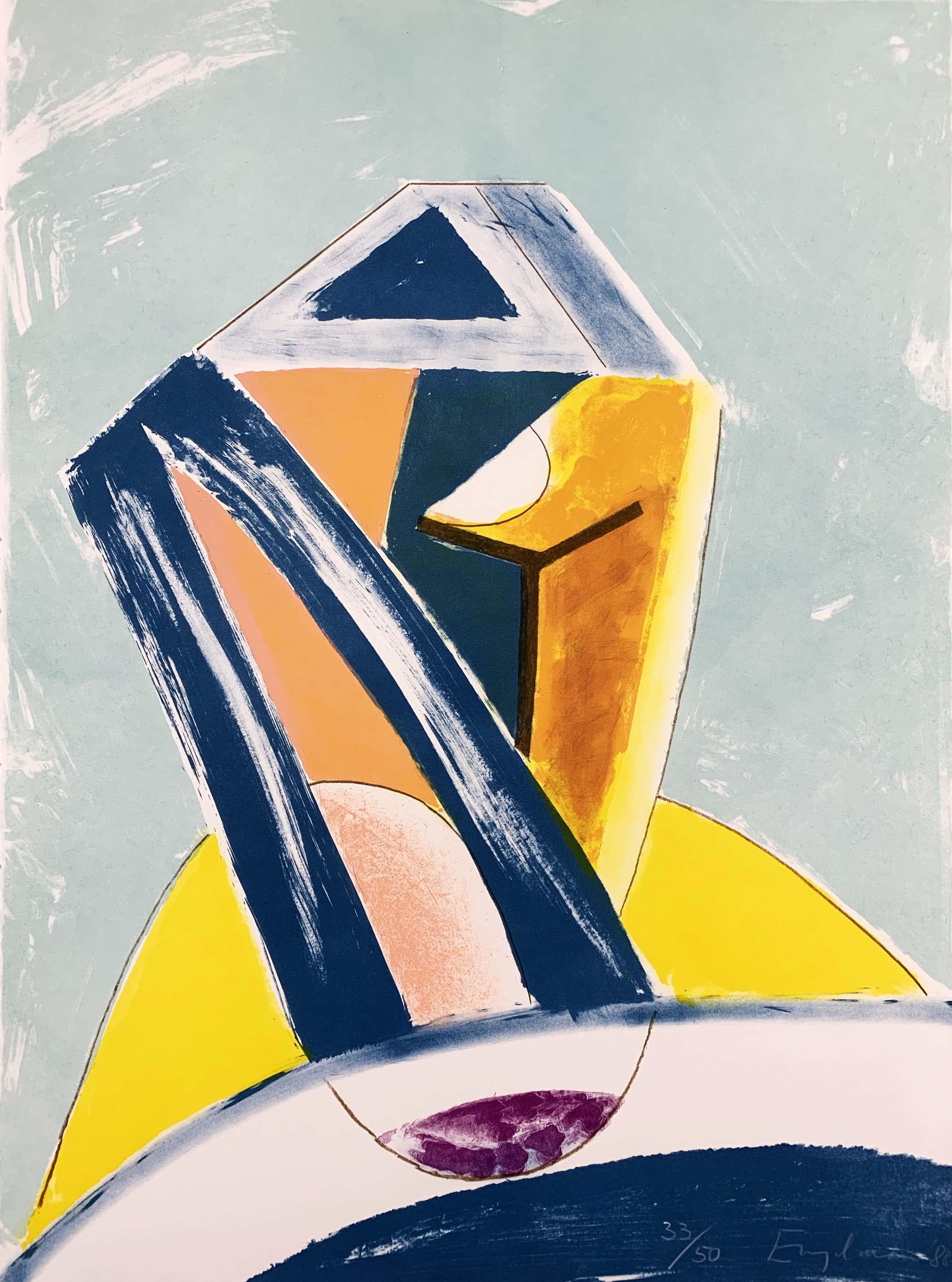 Martin Engelman - Grote kleurenlitho - zonder titel - 1988 (Kleine oplage) kopen? Bied vanaf 48!