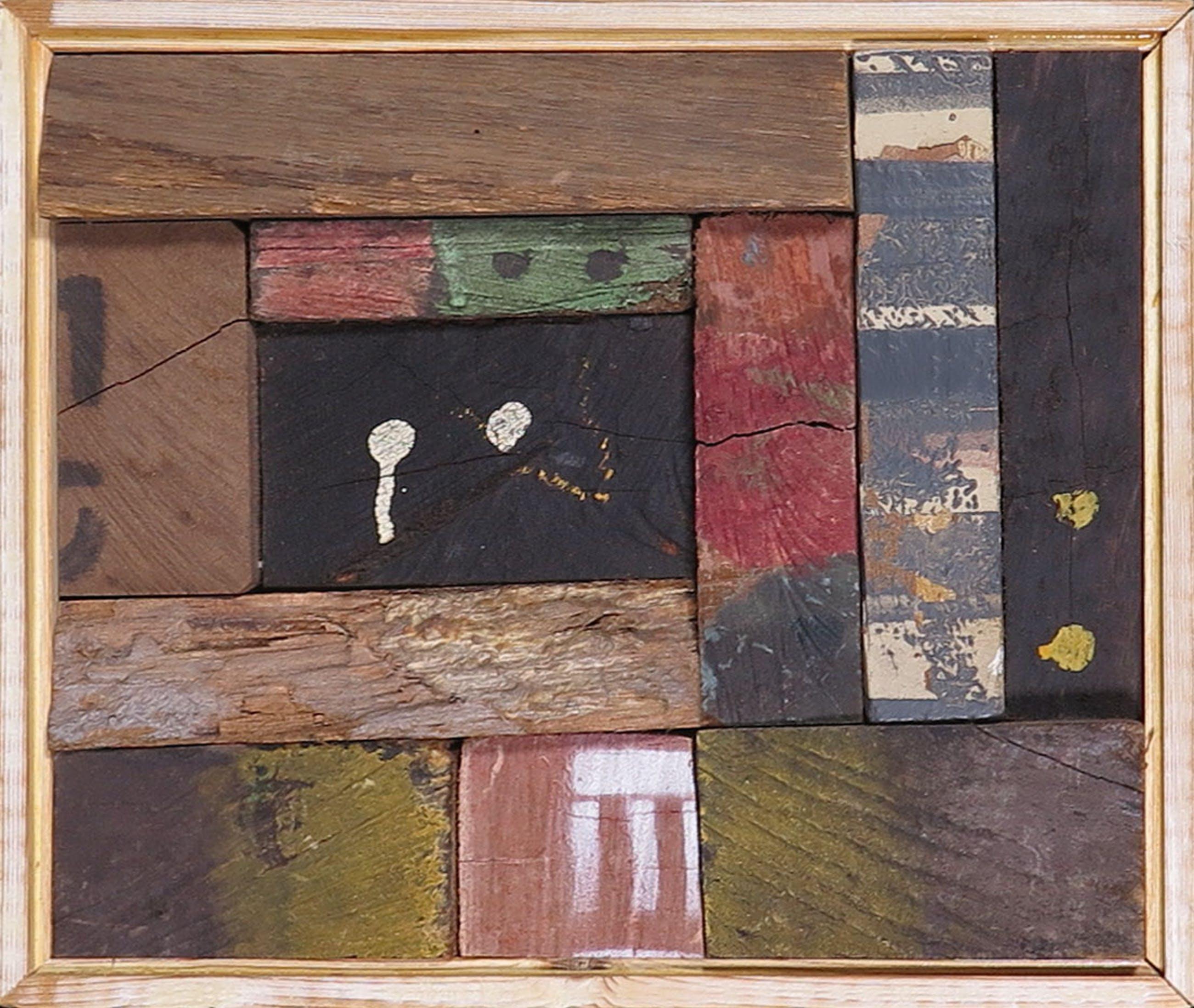 Christiaan Paul Damste - Collage van (beschilderd) hout, Ingesloten I - Ingelijst kopen? Bied vanaf 300!