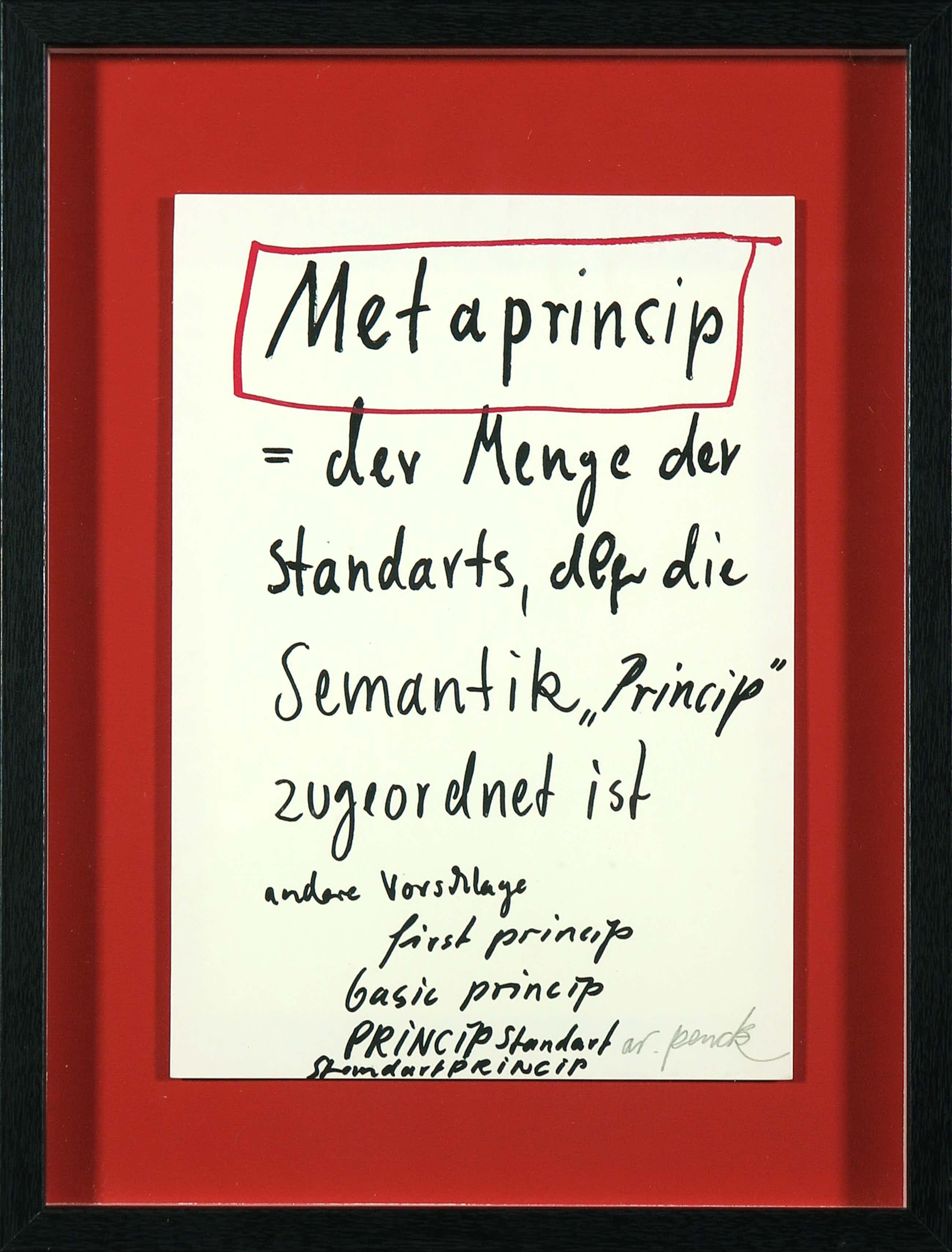 A.R. Penck - Zeldzame handgesigneerde litho, Metaprincip kopen? Bied vanaf 130!