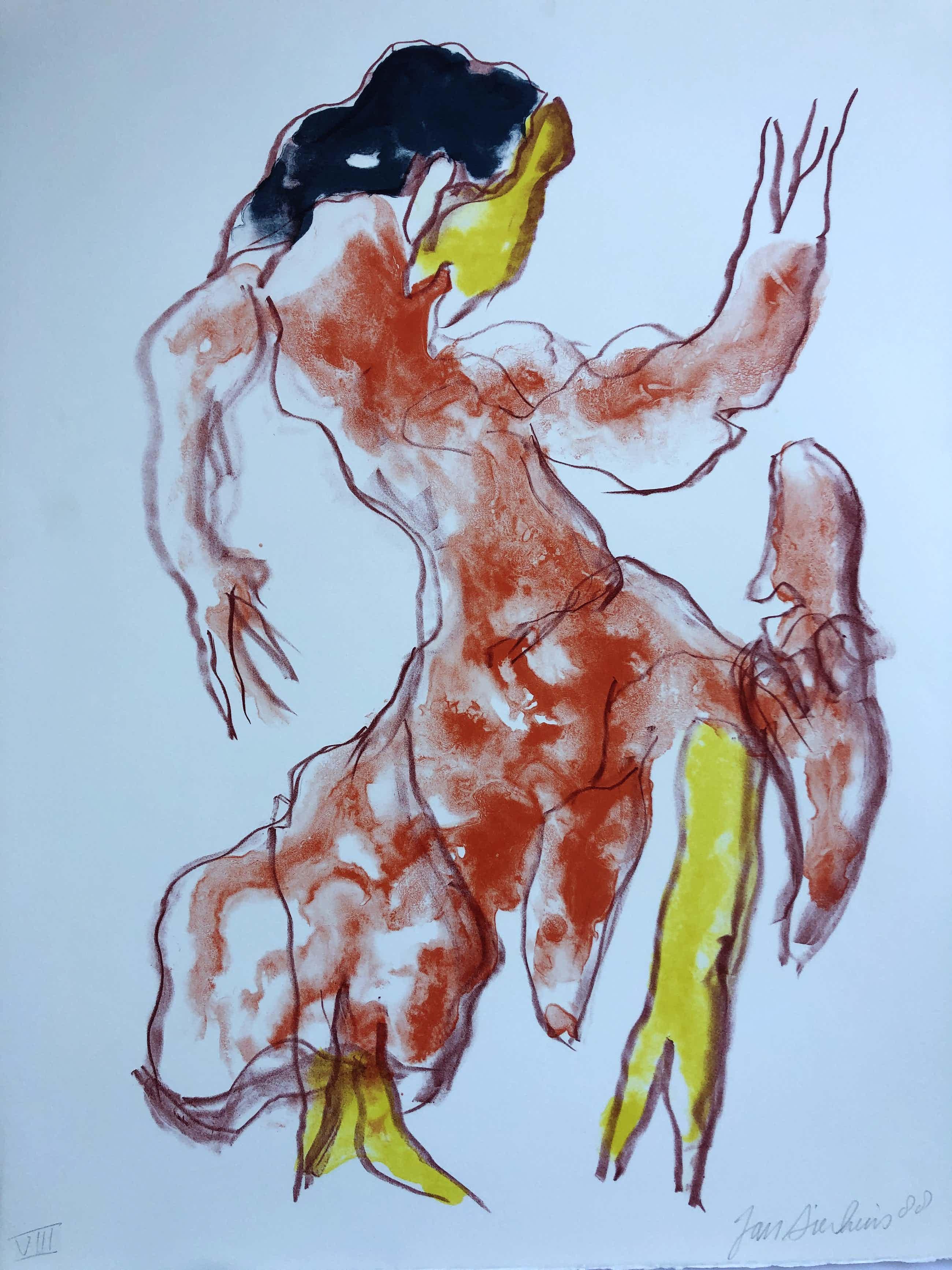 Jan Sierhuis - zonder titel (Flamingodanseres) kopen? Bied vanaf 120!