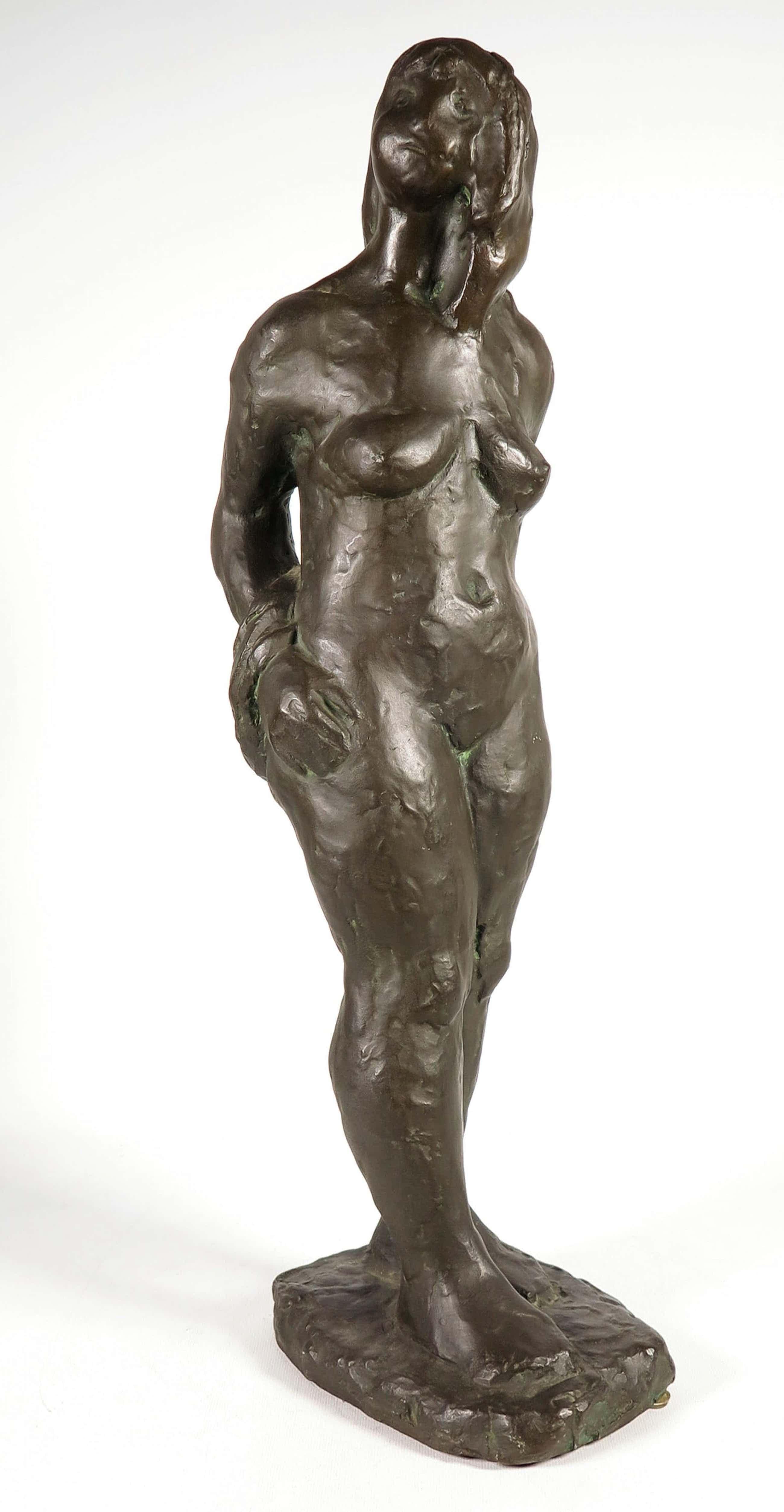 Brons (Onbekend) - Groot staand vrouwelijk naakt. kopen? Bied vanaf 575!