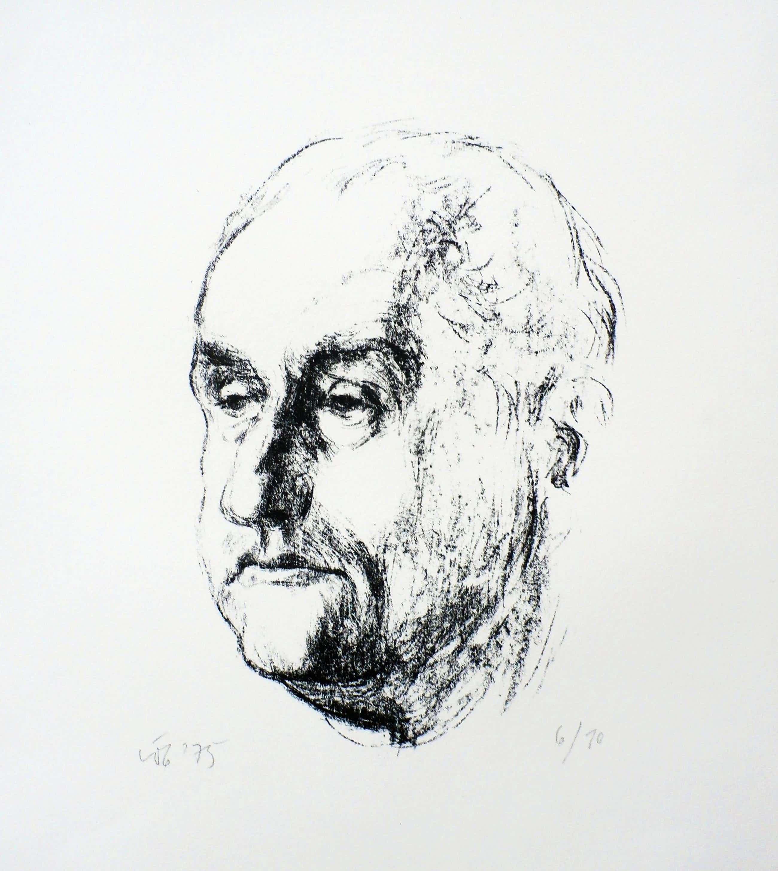 Kurt Lob - litho: portret - 1975 kopen? Bied vanaf 35!