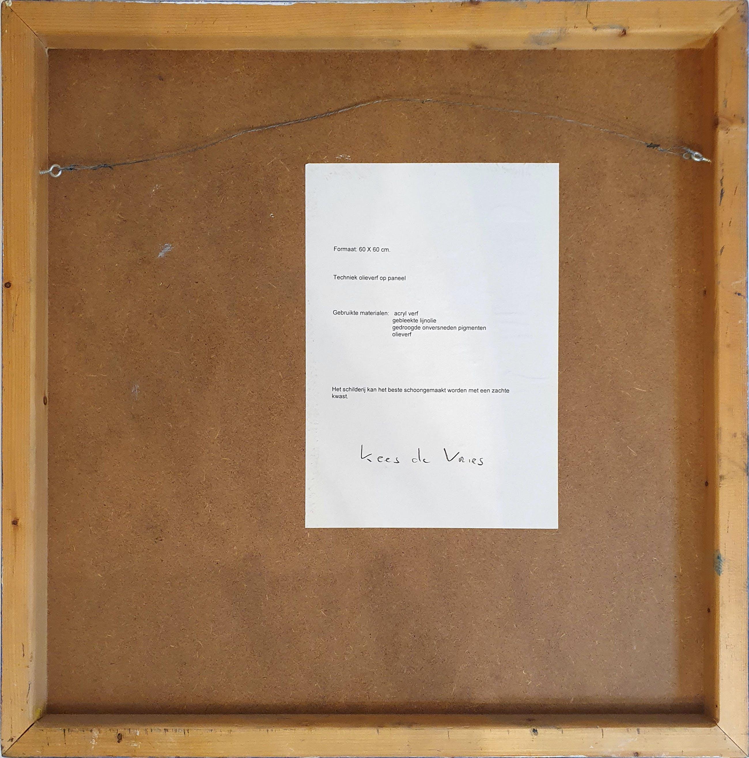 Kees de Vries - Abstracte compositie   Unica kopen? Bied vanaf 165!