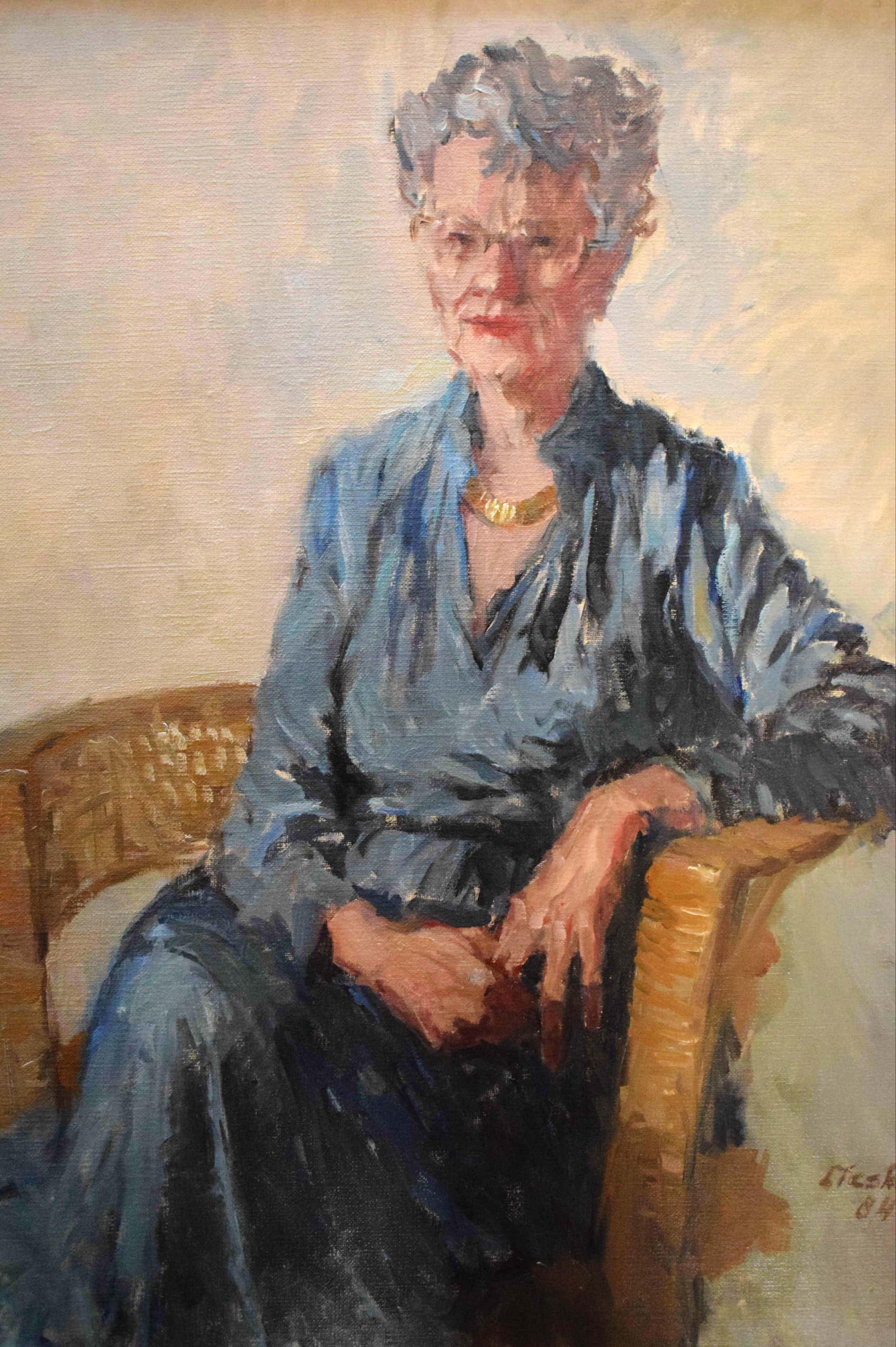 Joop Liesker - Portret van een oudere dame kopen? Bied vanaf 325!