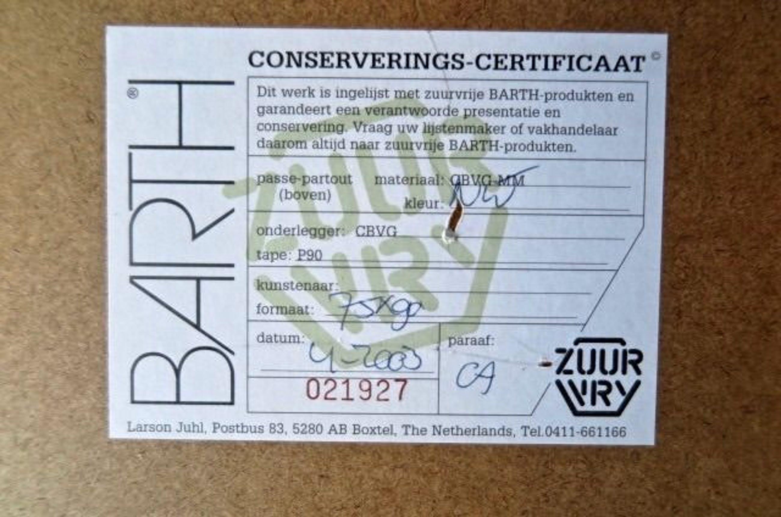 Jan van Delft - Morning Glory - Groot - Nieuwstaat - Houten Barth-lijst - Nieuwwaarde €710,- kopen? Bied vanaf 1!