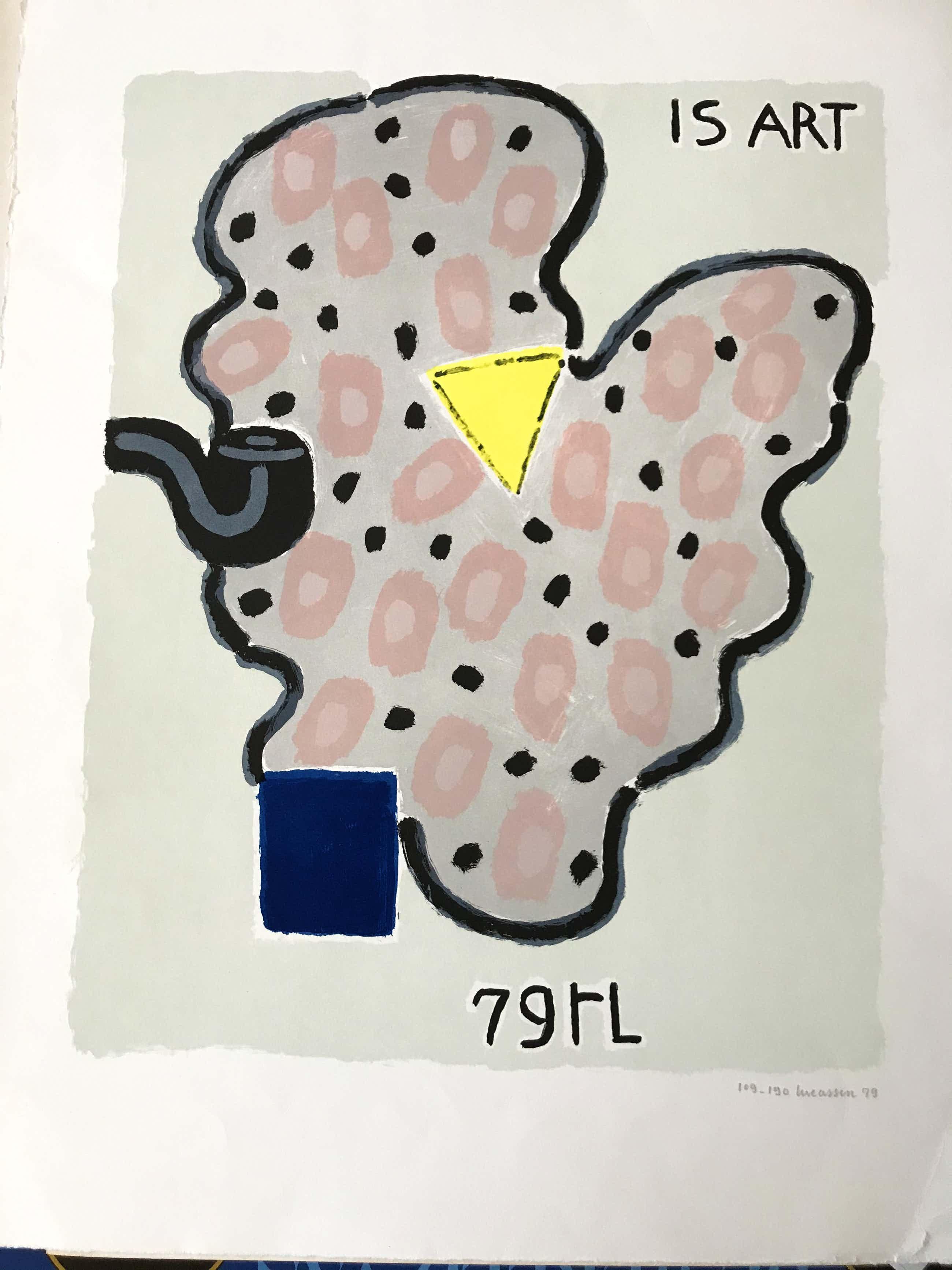 Reinier Lucassen - Zeefdruk: Is Art - 1979 kopen? Bied vanaf 80!