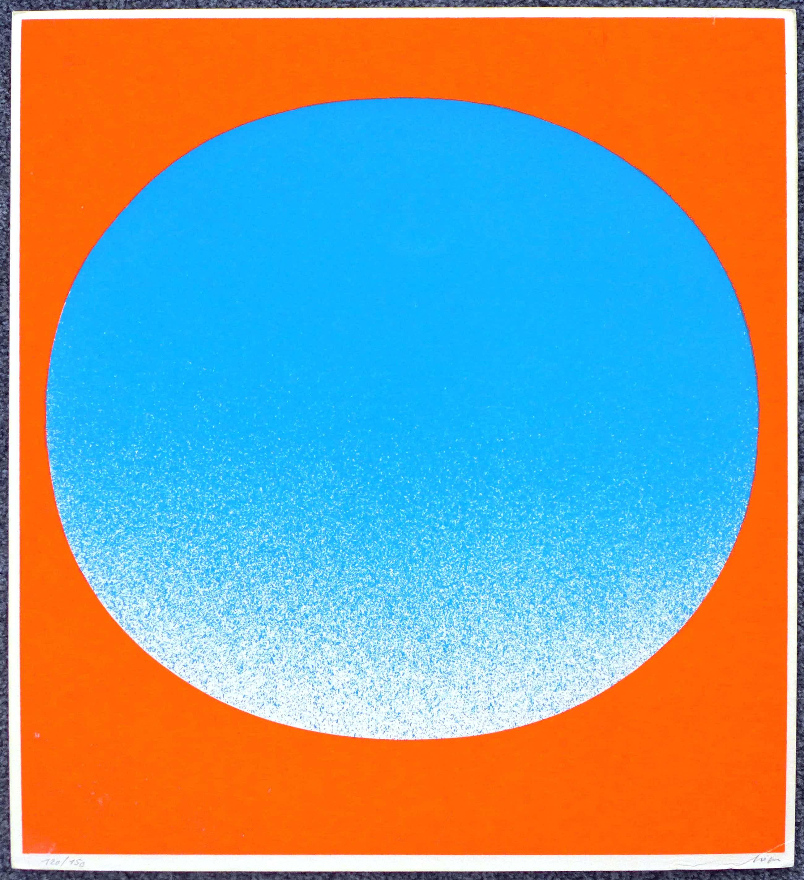 Rupprecht Geiger - ohne Titel, Neon-Farbserigraphie kopen? Bied vanaf 120!
