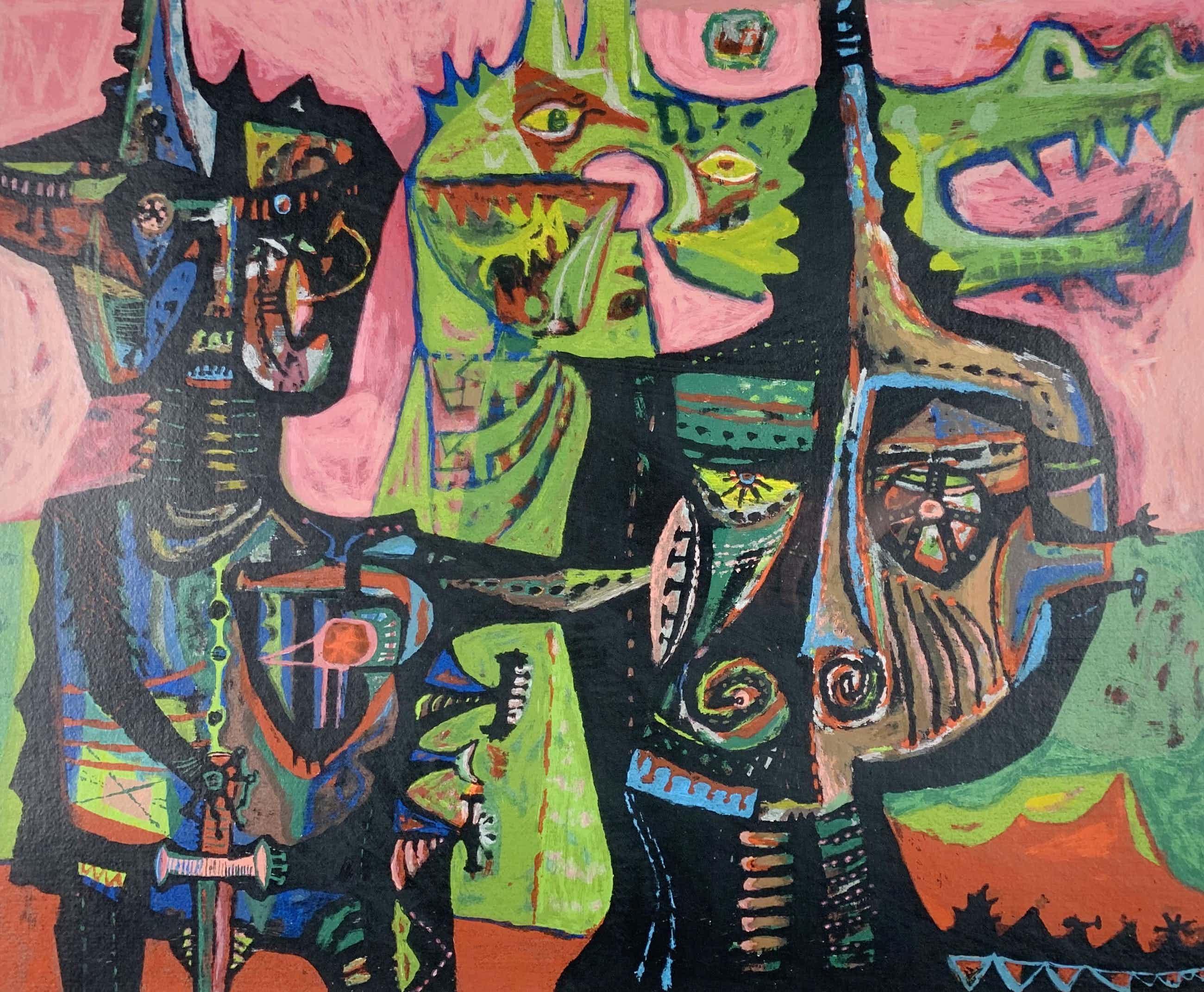 Shinkichi Tajiri - kleurenzeefdruk - 'St Joris en de draak' 1950-1991 kopen? Bied vanaf 320!