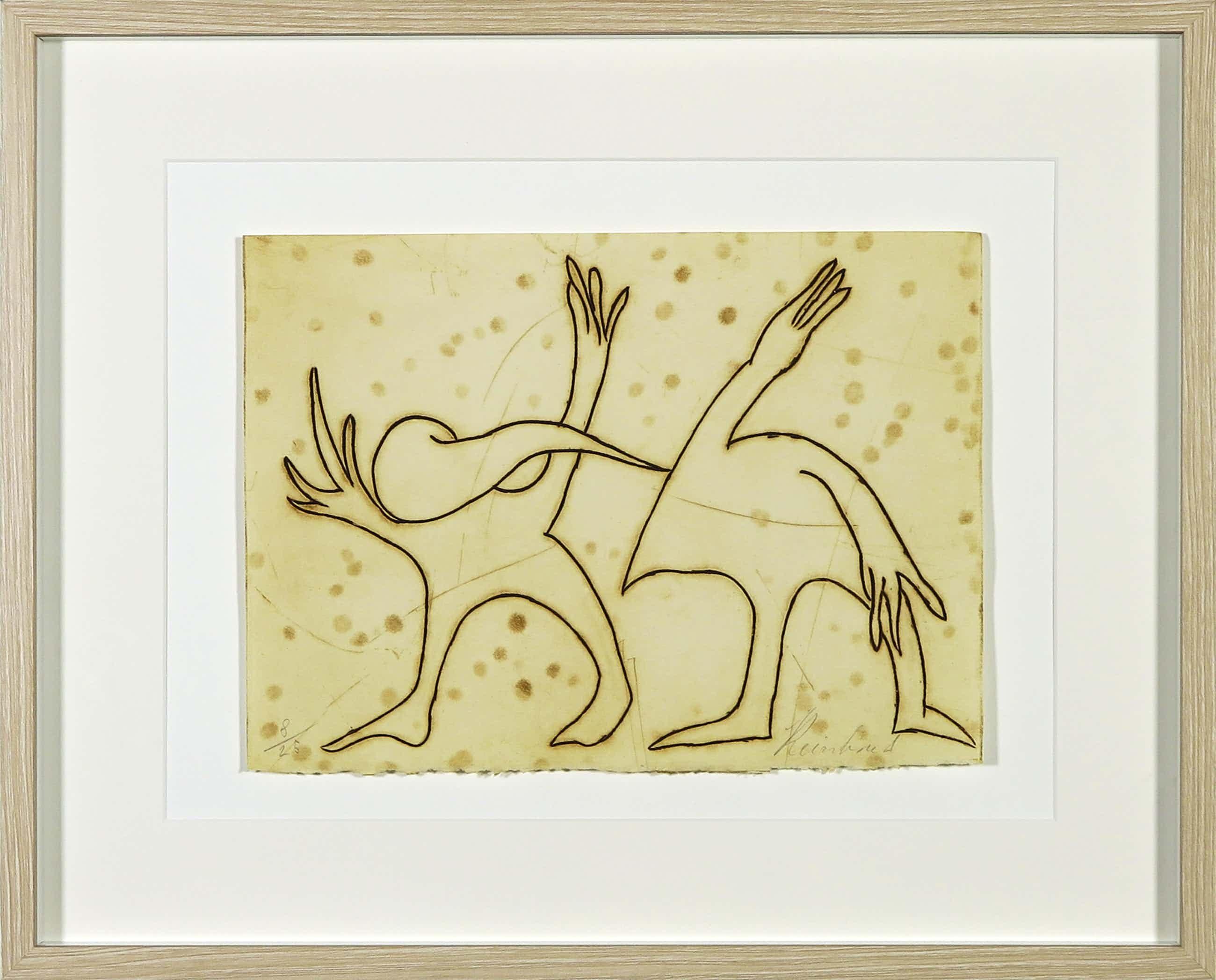Reinhoud D'Haese - Ets uitgegeven door Avant Galleries New York - Ingelijst kopen? Bied vanaf 110!