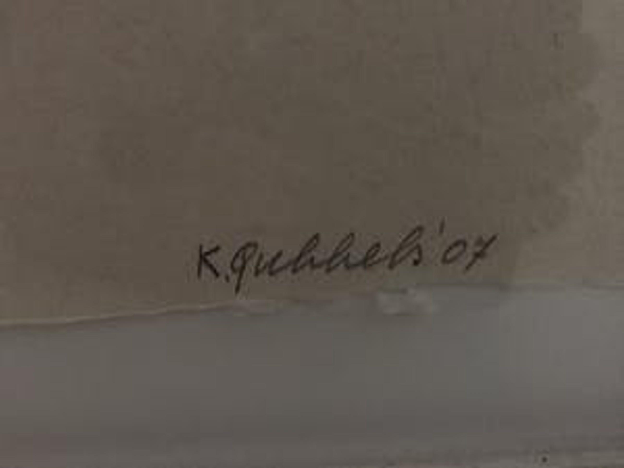 Klaas Gubbels - Hartenkan - gesigneerde houtdruk met lijst! - 2007 kopen? Bied vanaf 795!
