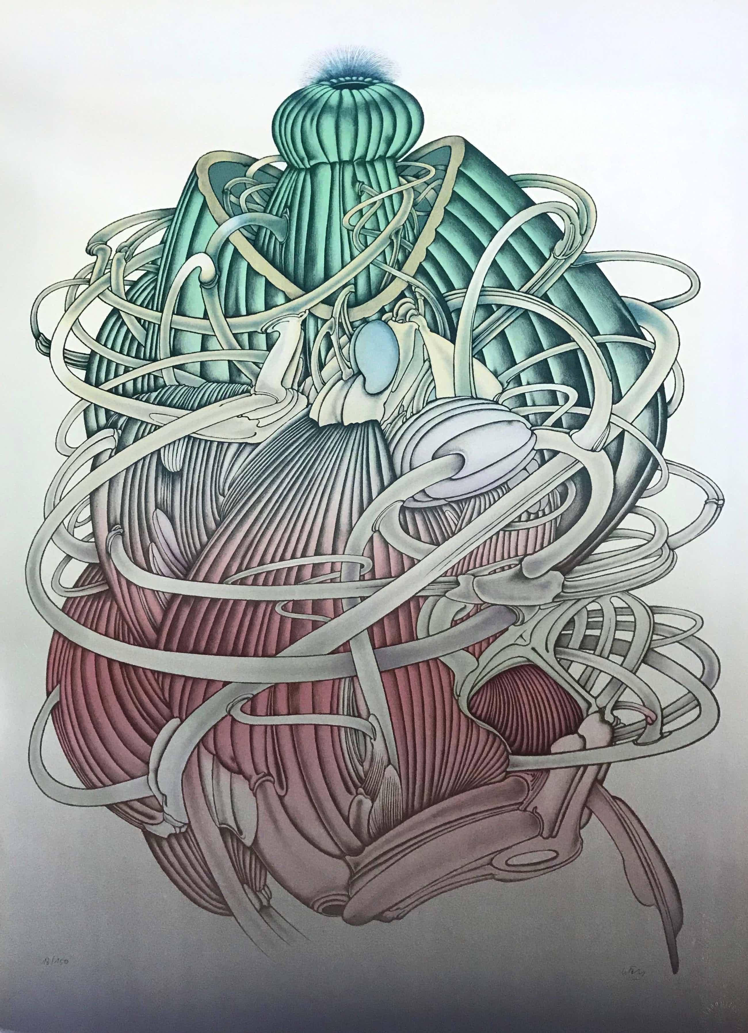Alain Le Foll - Lithografie - 'Le Meduse' - 18/150 - Gesigneerd kopen? Bied vanaf 36!