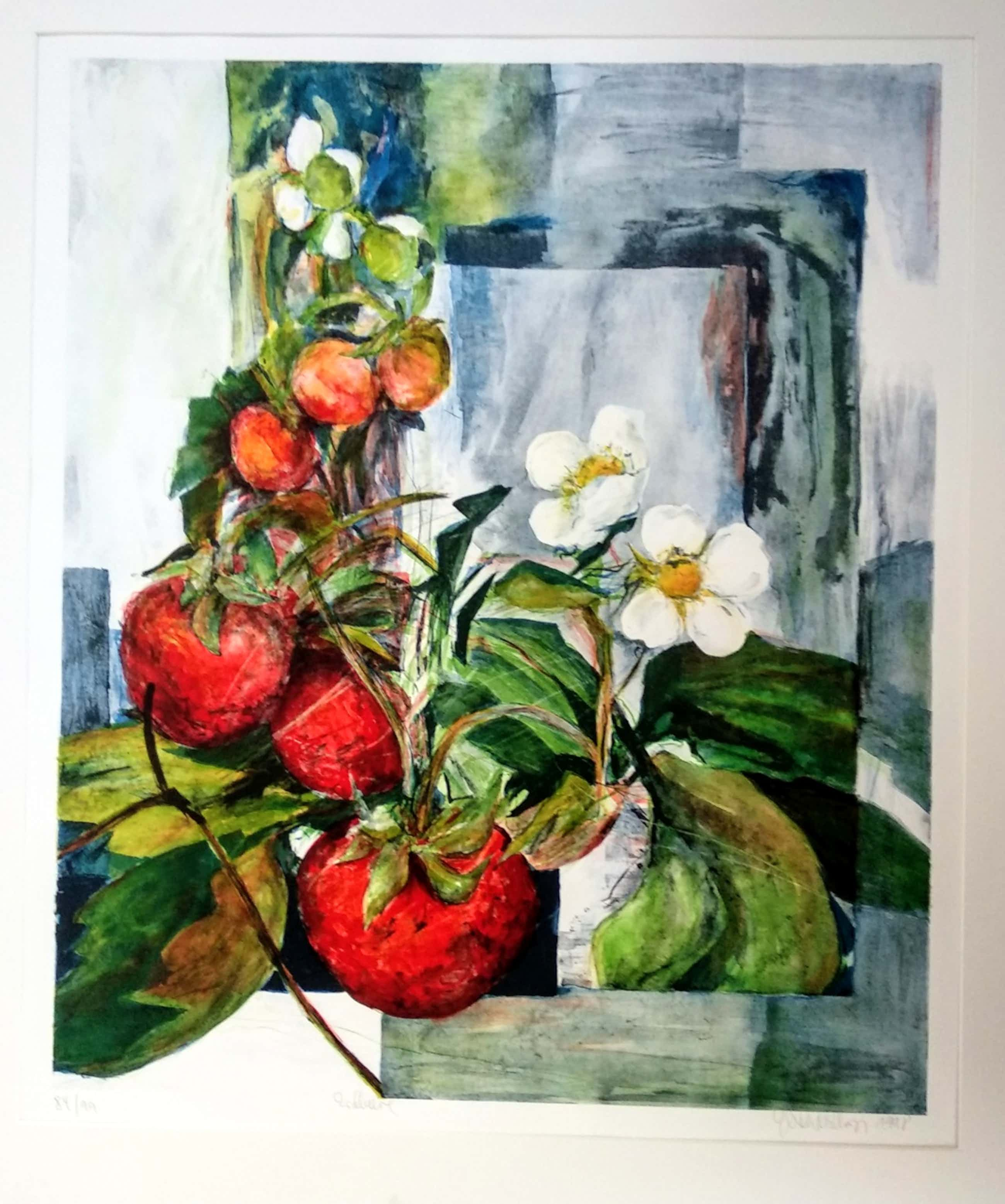 Gerda Nietzer - Erdbeere, Farblithographie 1998 kopen? Bied vanaf 180!