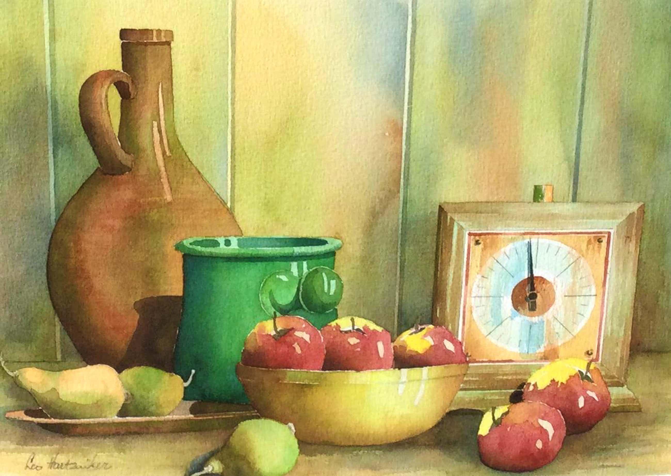 Leo Hartzuiker - C5142-7, Stilleven met appels en klokje kopen? Bied vanaf 75!